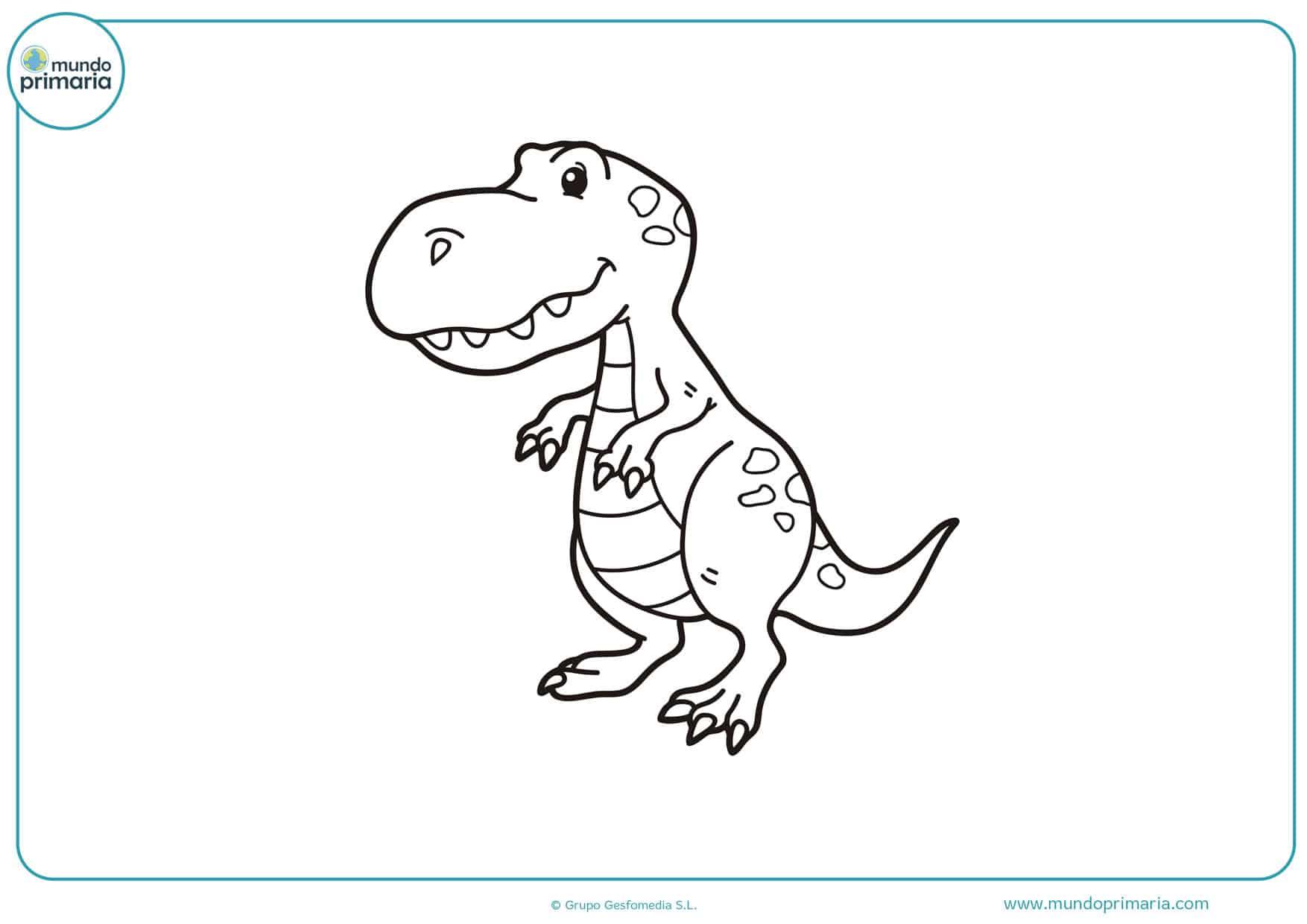 dibujos para colorear de dinosaurios carnívoros