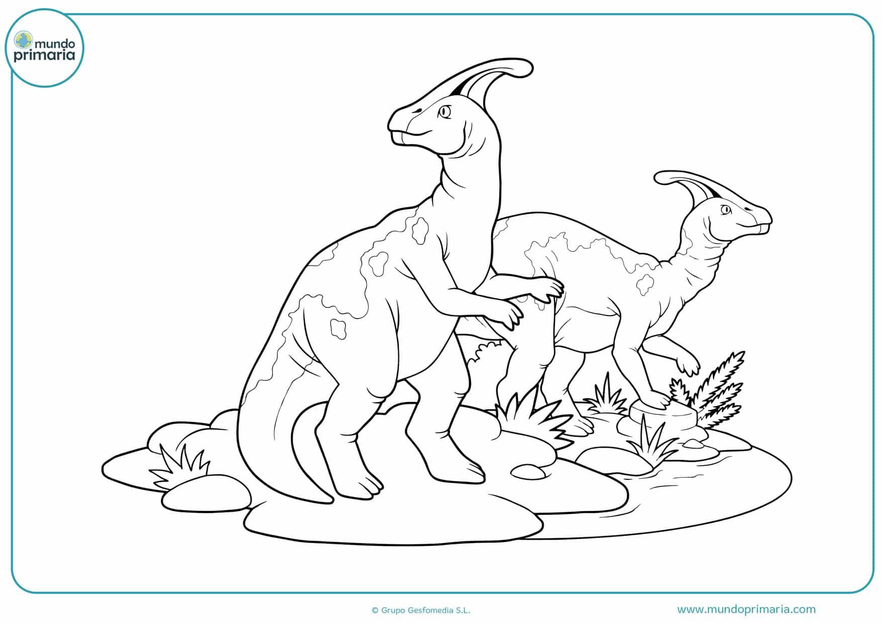 dibujos para colorear de dinosaurios infantiles