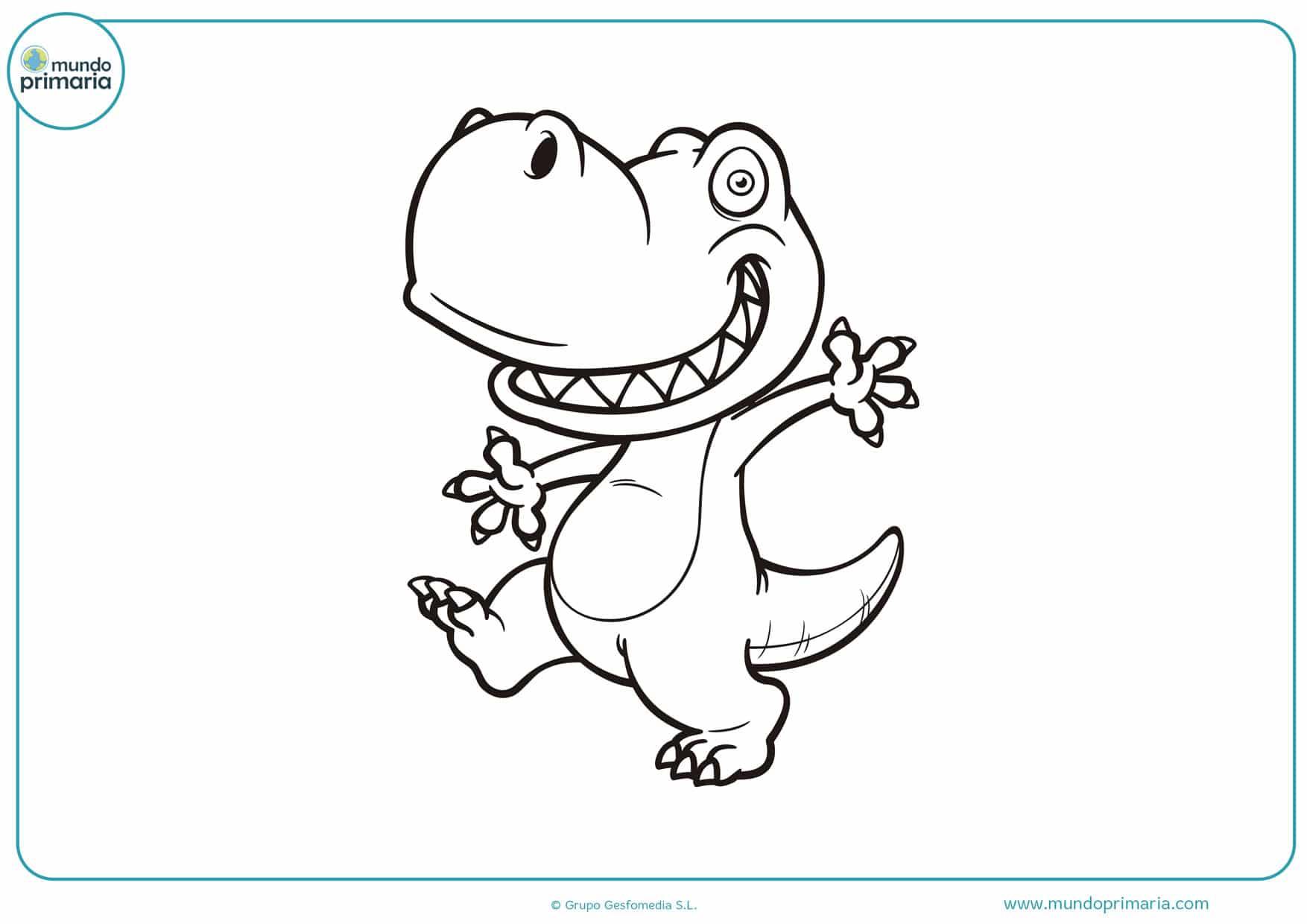 dibujos para colorear de dinosaurios rex