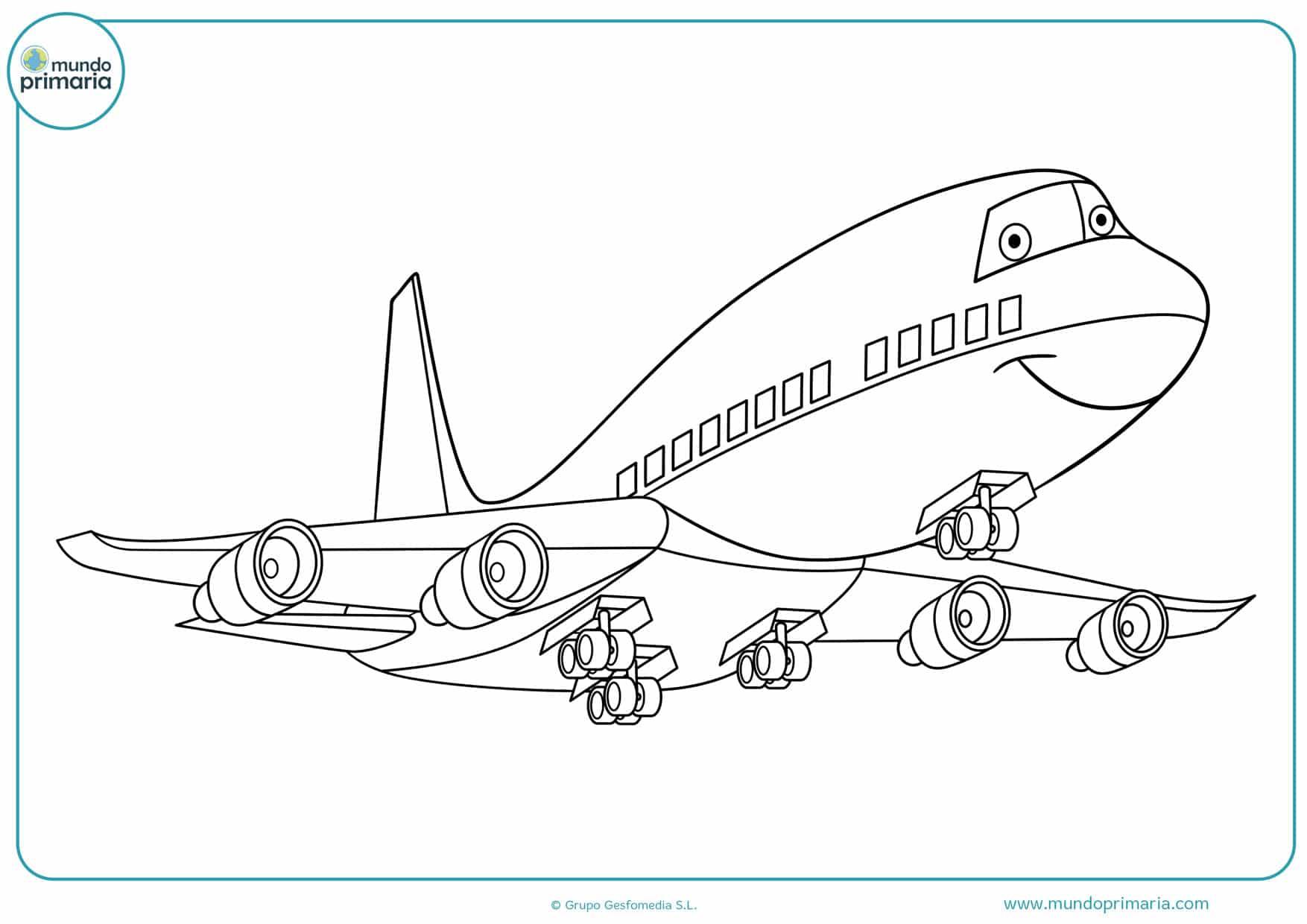 dibujos para colorear de disney aviones