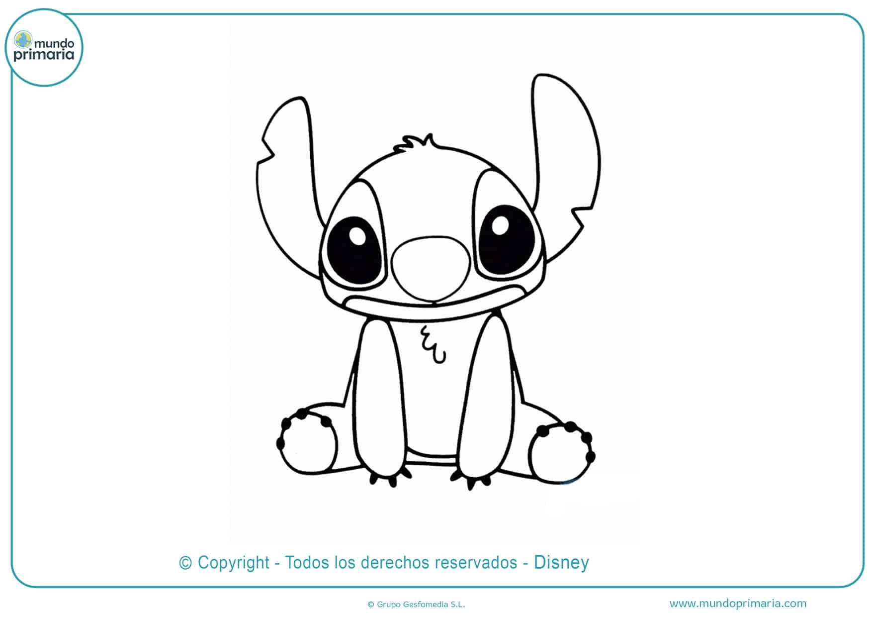 dibujos para colorear de disney stitch