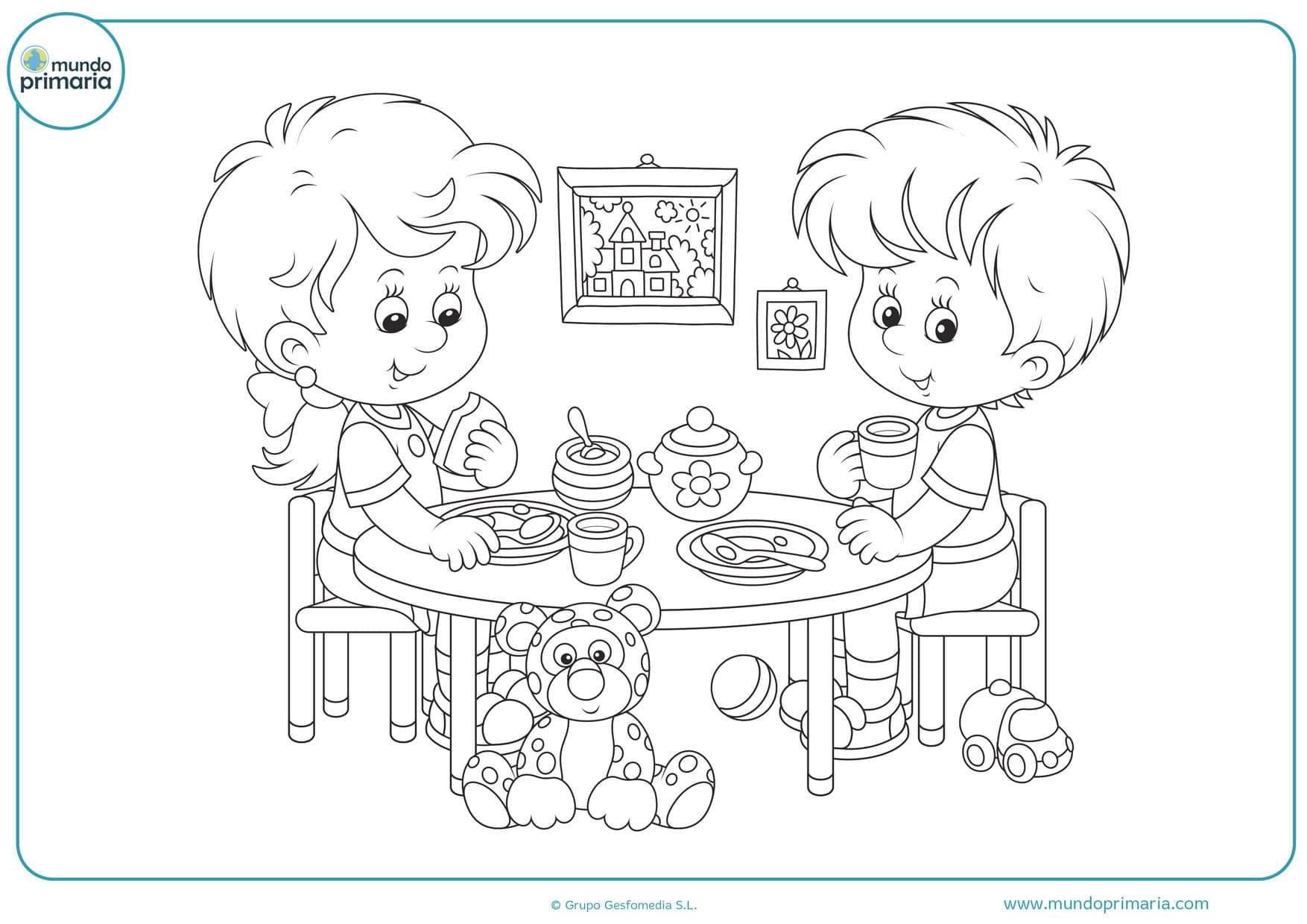 dibujos para colorear de dos personas