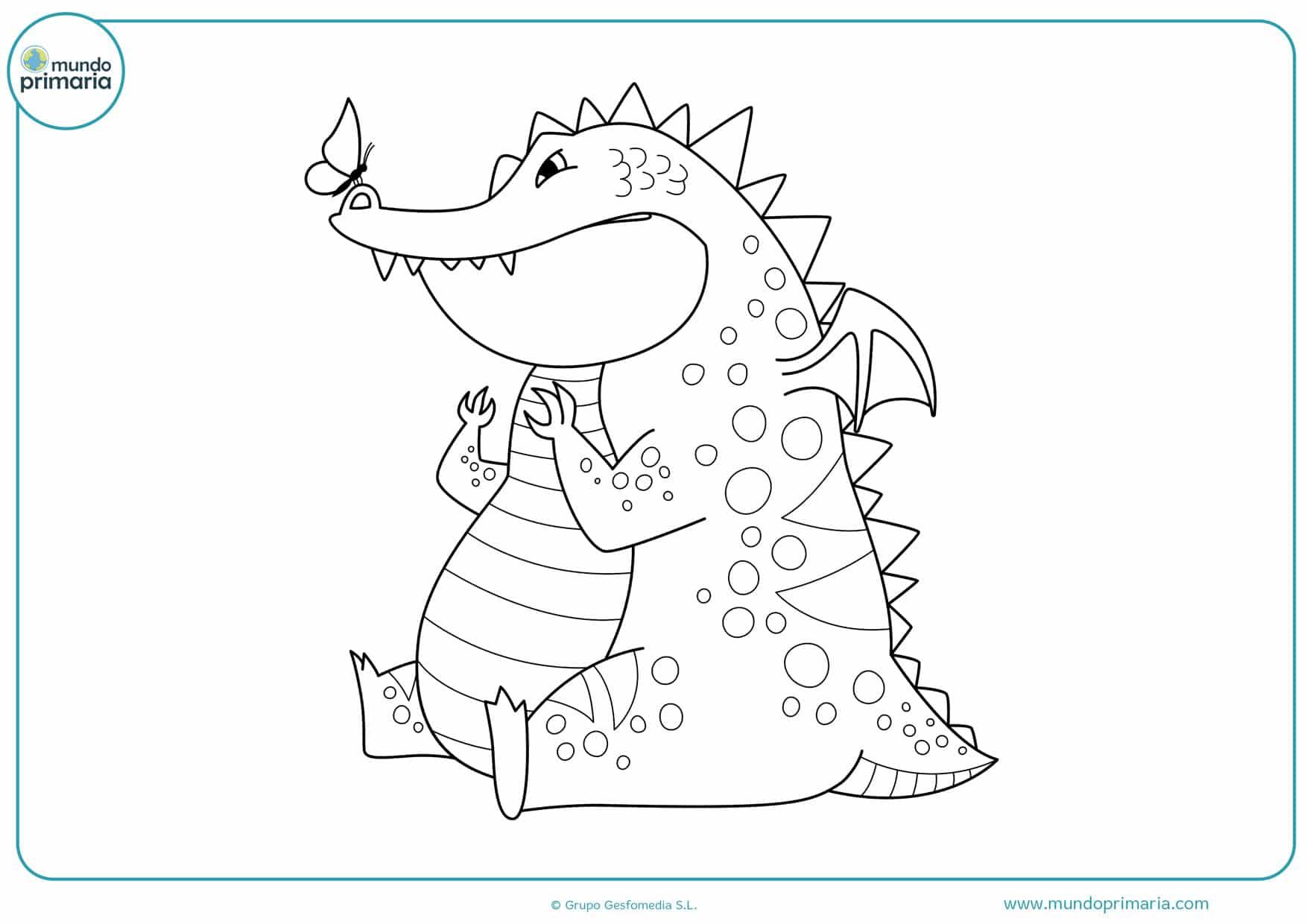 dibujos para colorear de dragones fáciles