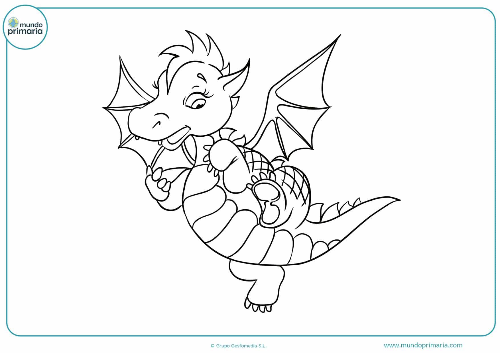 dibujos para colorear de dragones de fuego