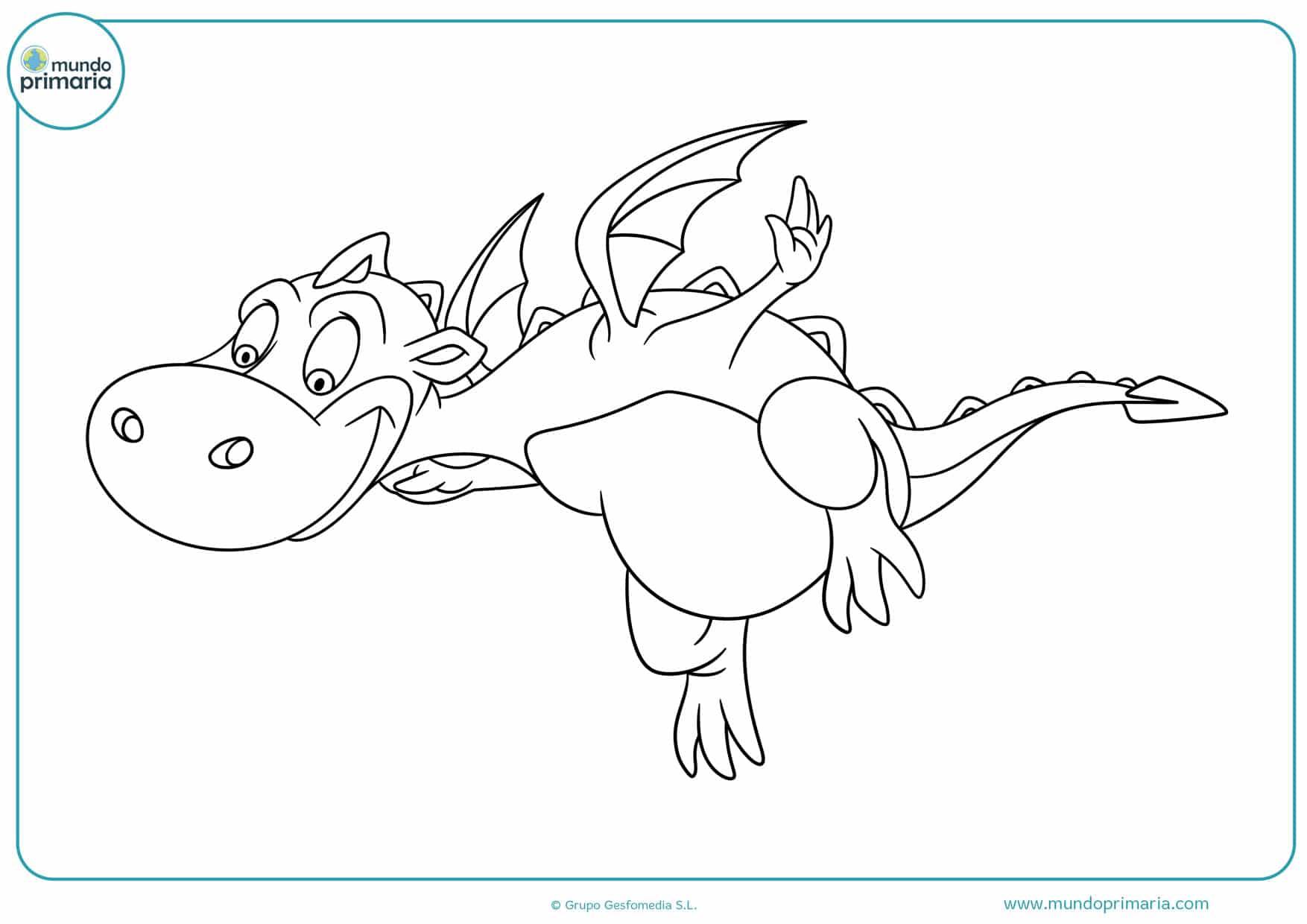 dibujos para colorear de dragones para imprimir