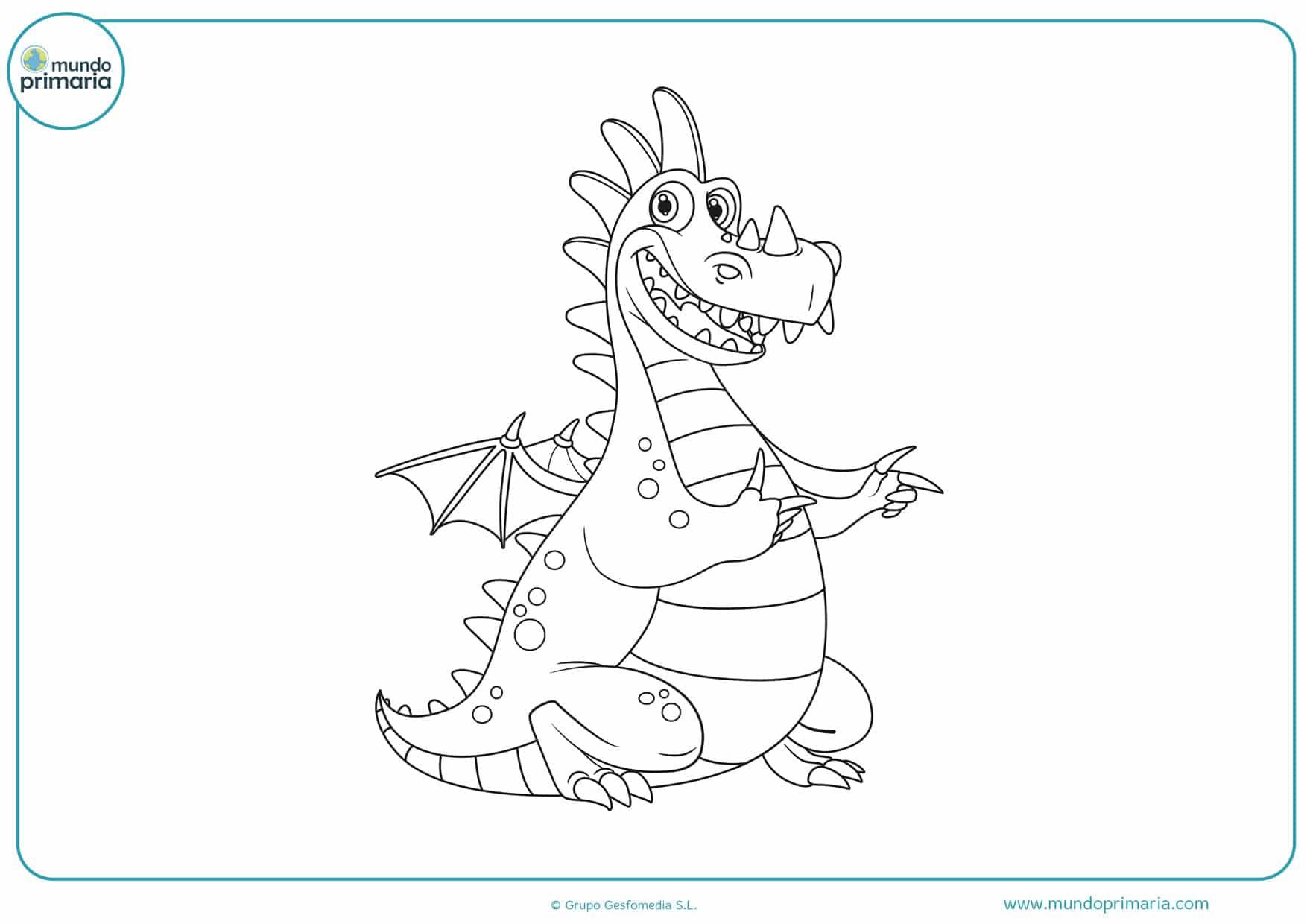dibujos para colorear de dragones infantiles