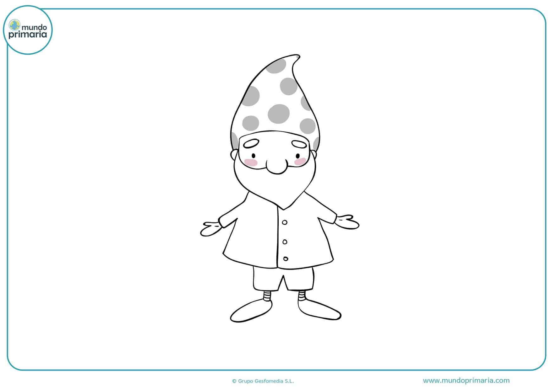 dibujos para colorear de duendes infantiles