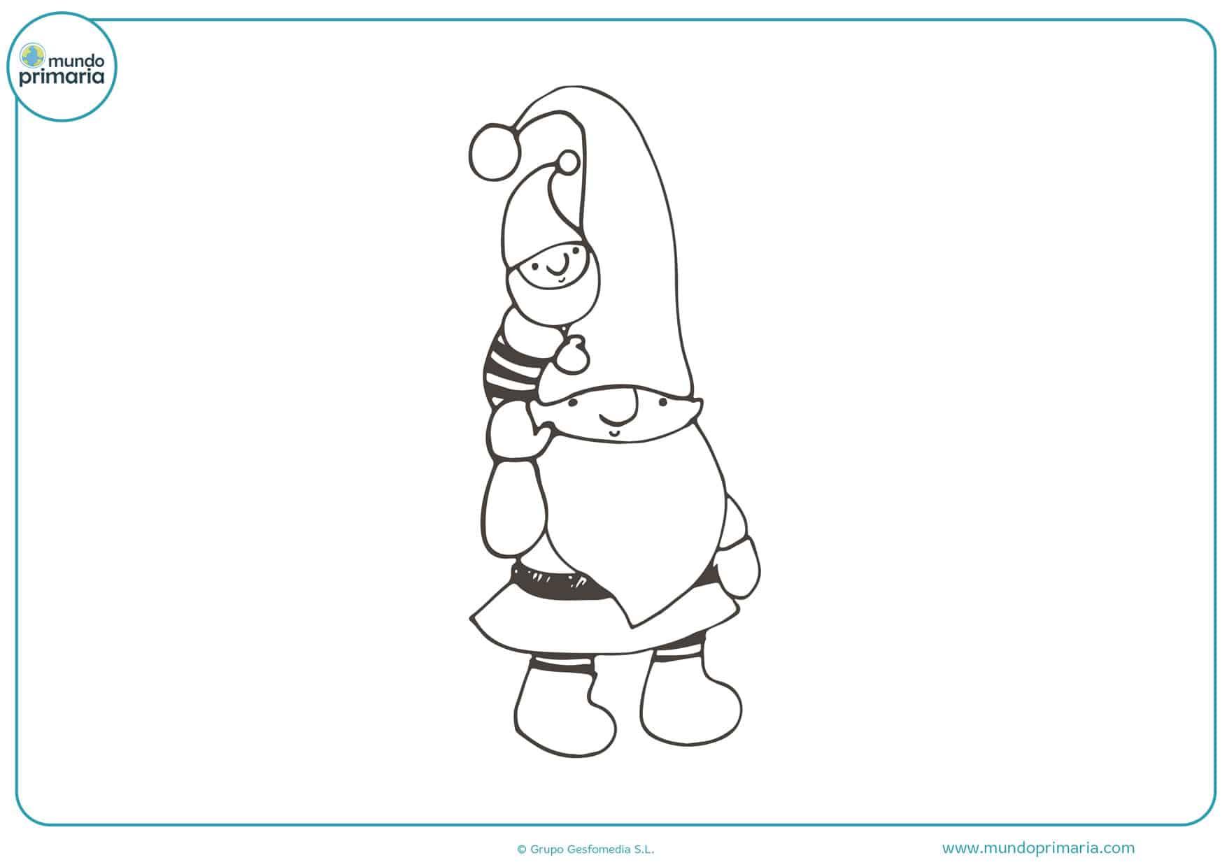 dibujos para colorear de los duendes de papanoel