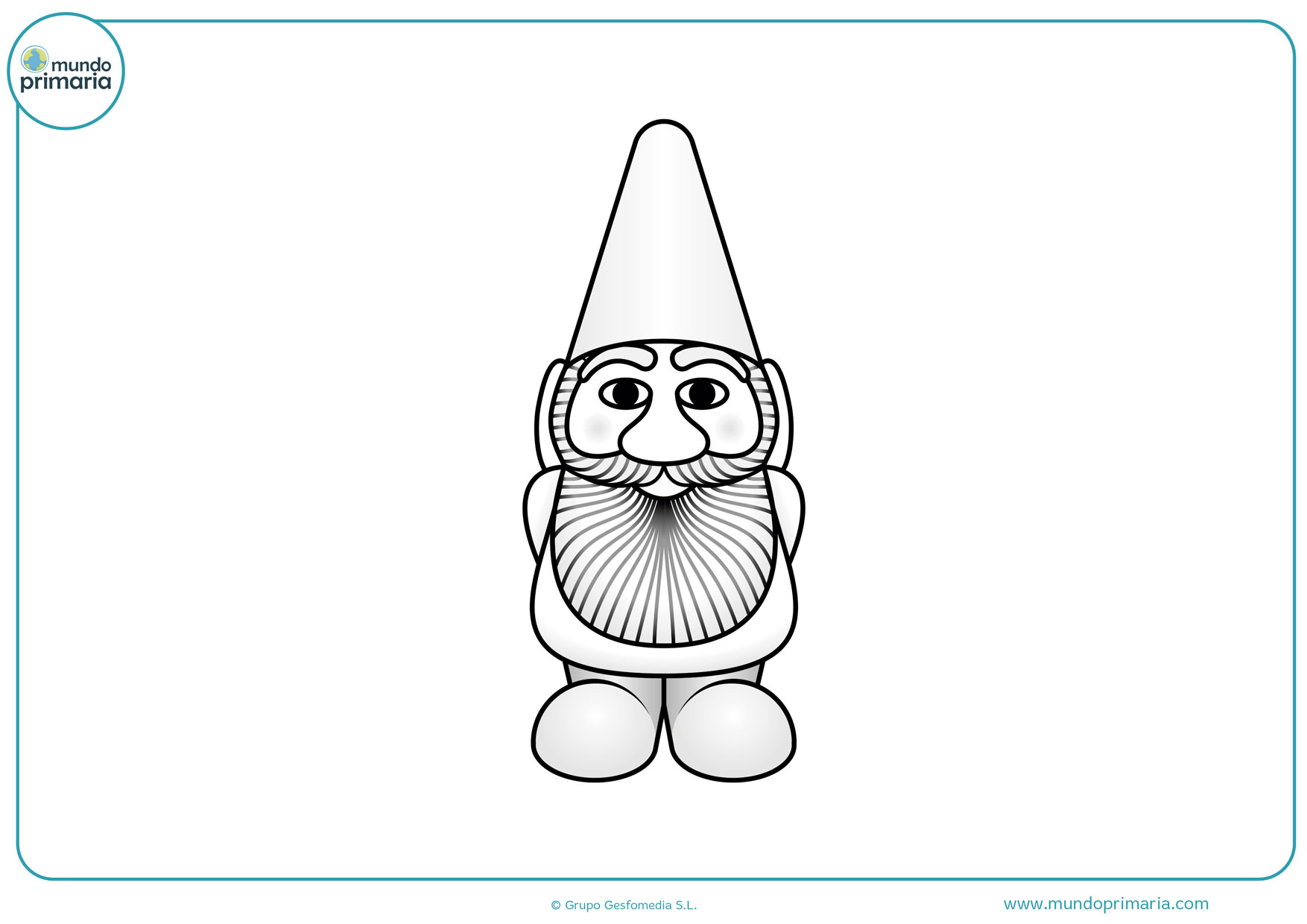 dibujos para colorear de duendes