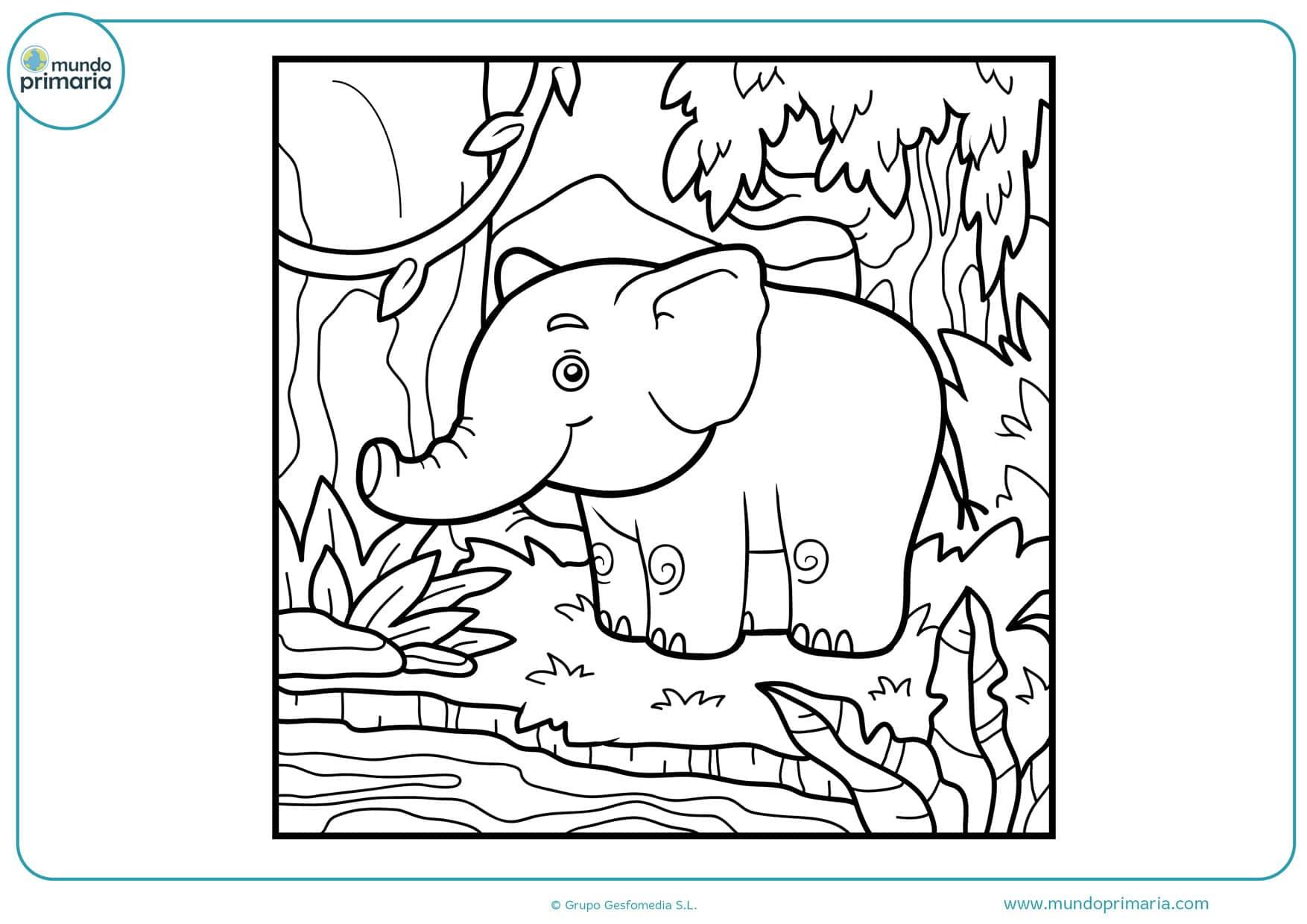 dibujos para colorear de elefantes