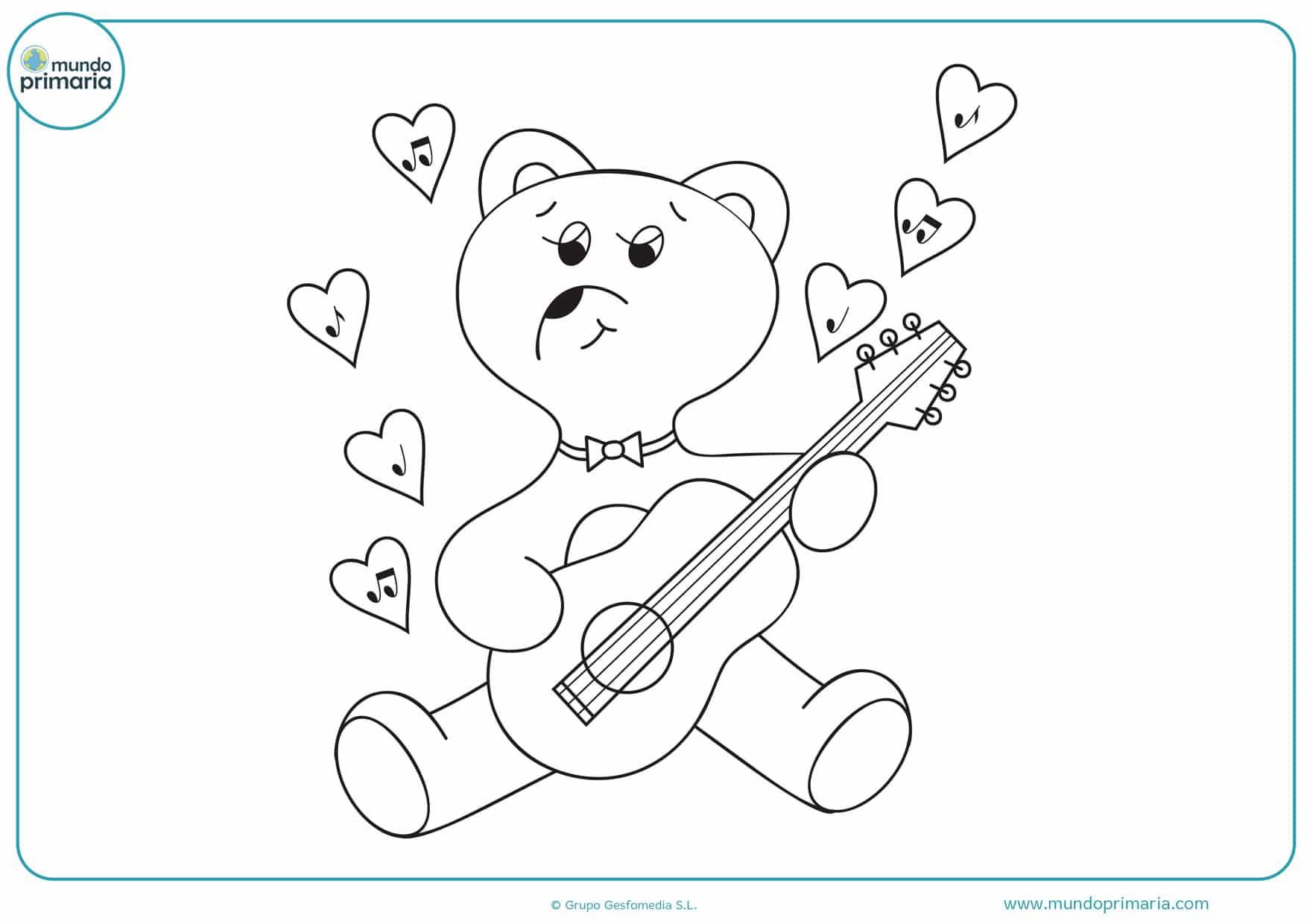 dibujos para colorear fáciles de amor