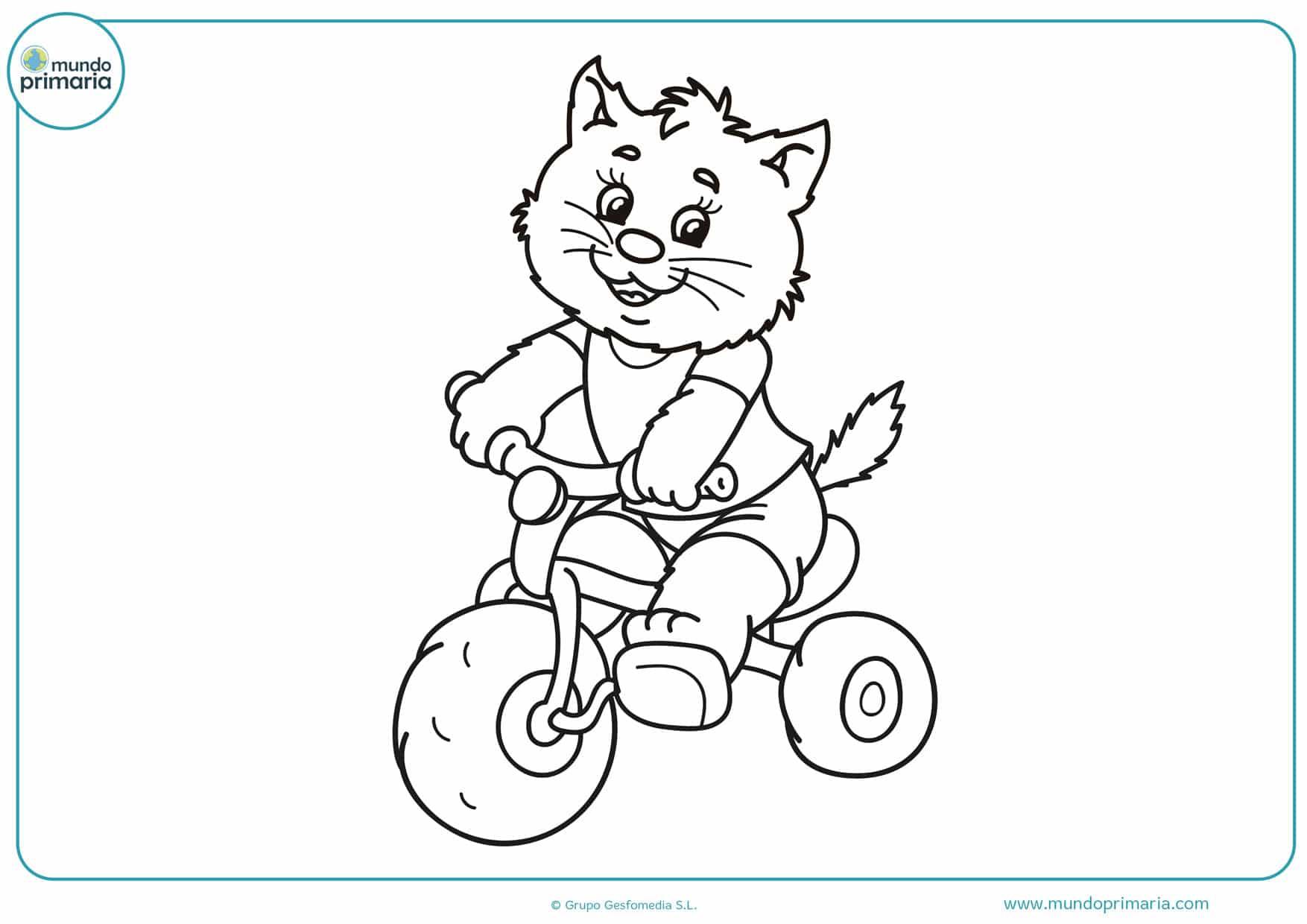 dibujos para colorear fáciles de gatos