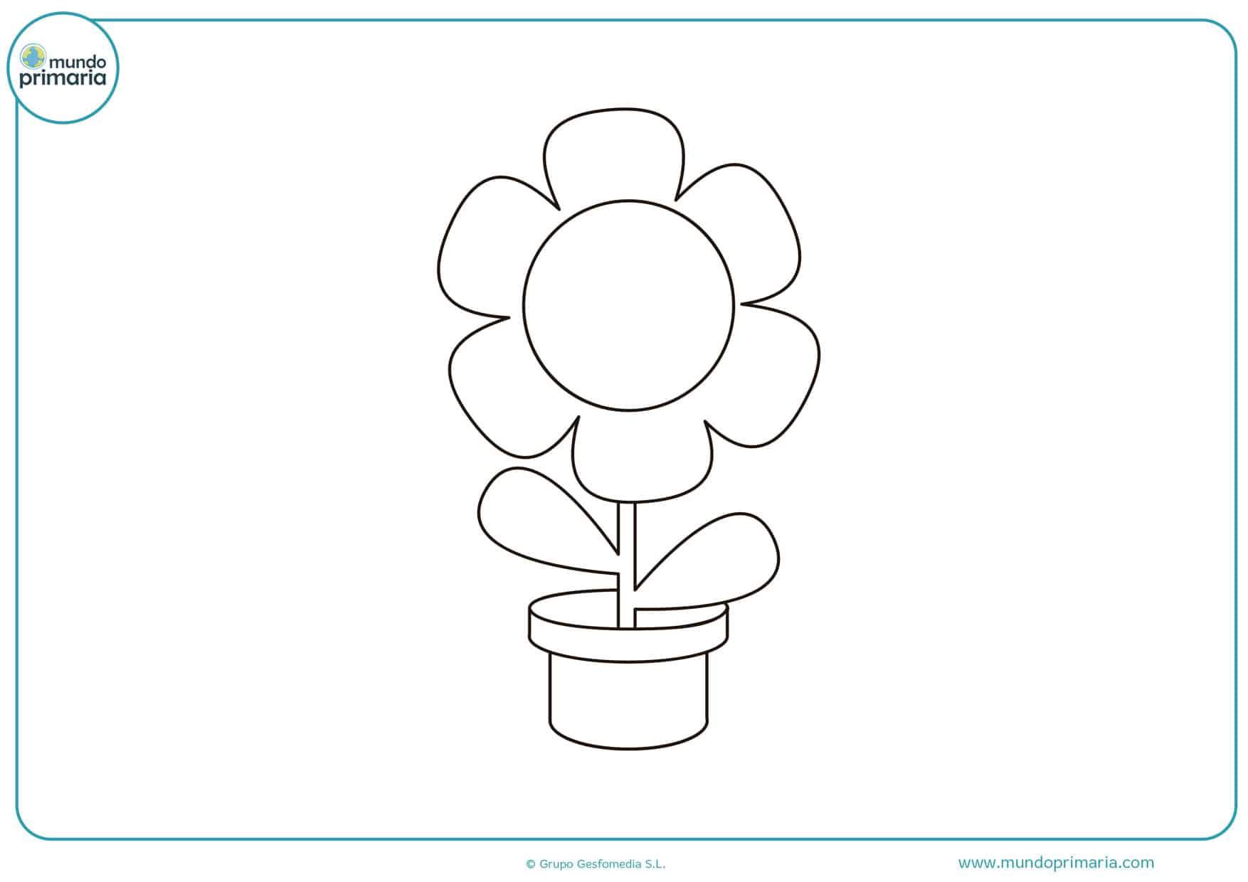 dibujos para colorear de flores bonitas