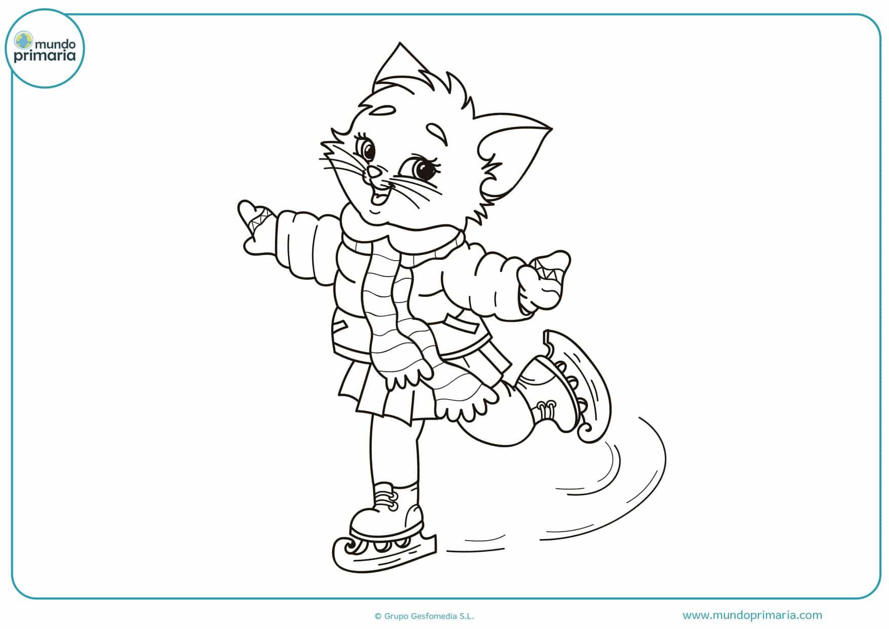dibujos para colorear de gatos bebes