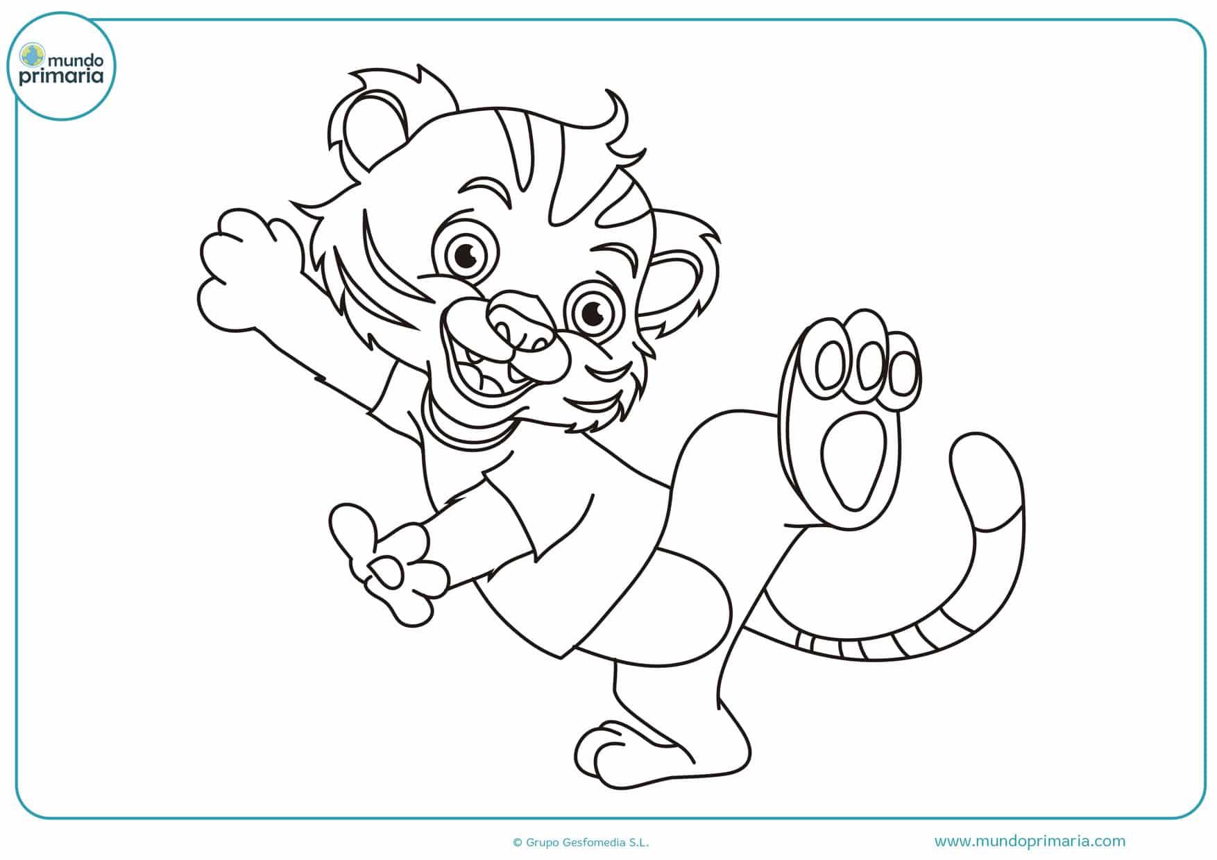 dibujos para colorear de gatos divertidos