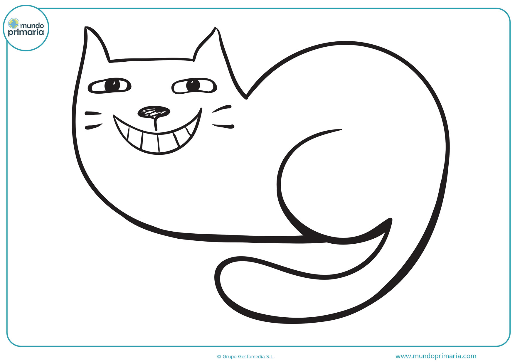 dibujos para colorear de gatos fáciles