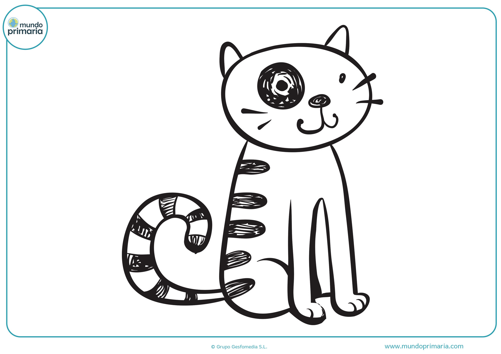 dibujos para colorear de gatos raros
