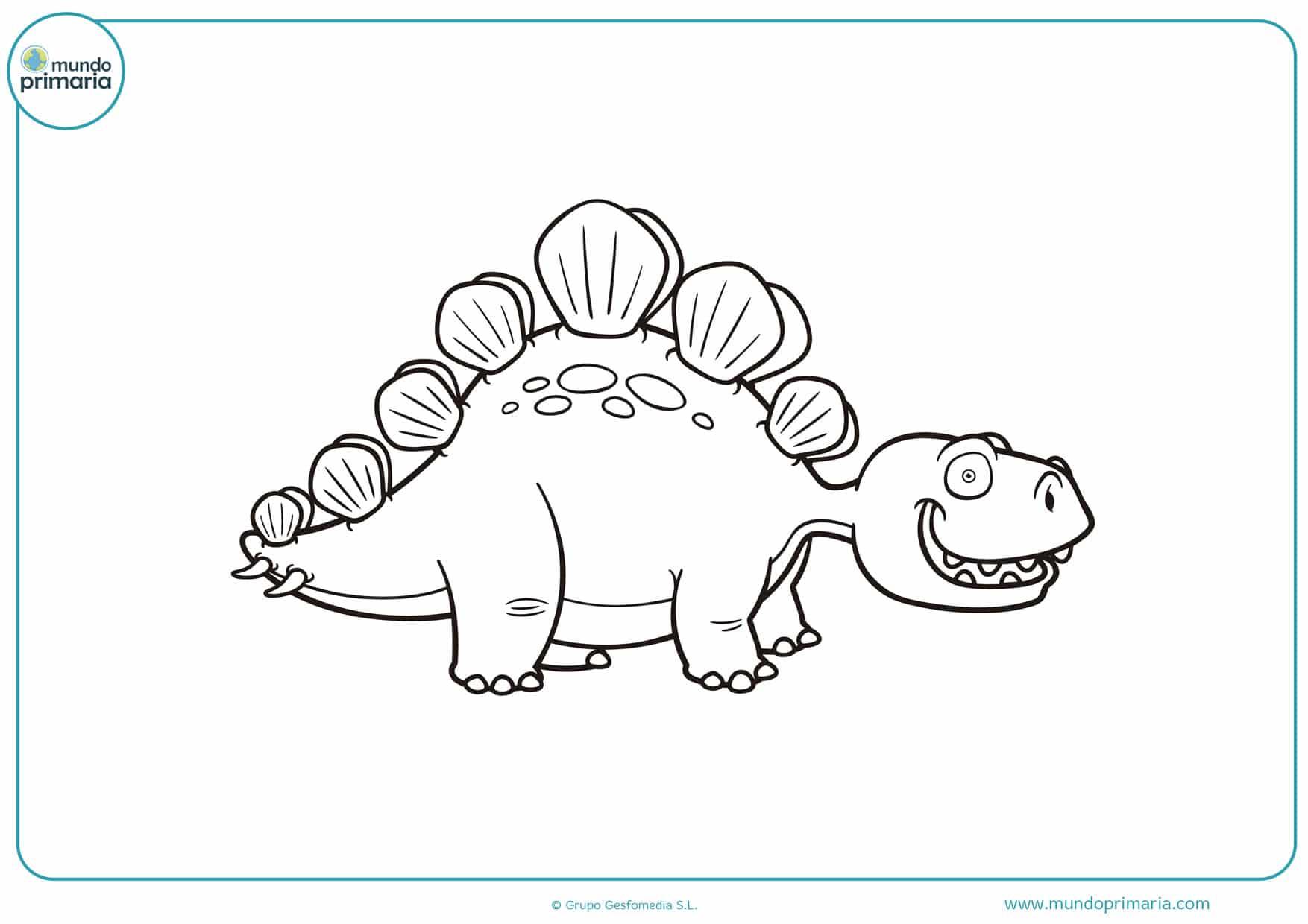 dibujos para colorear gratis de dinosaurios