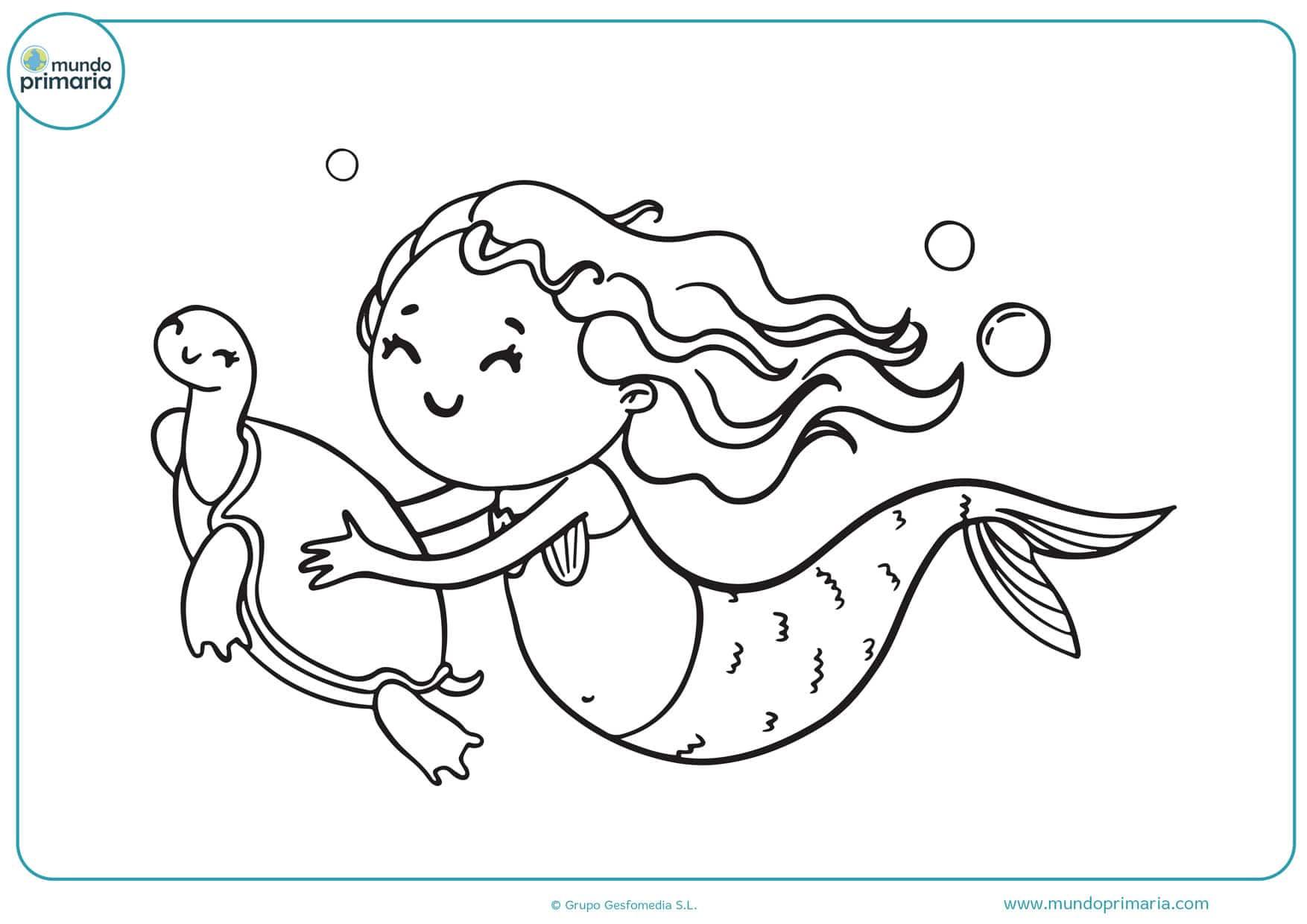 dibujos para colorear de h2o sirenas del mar
