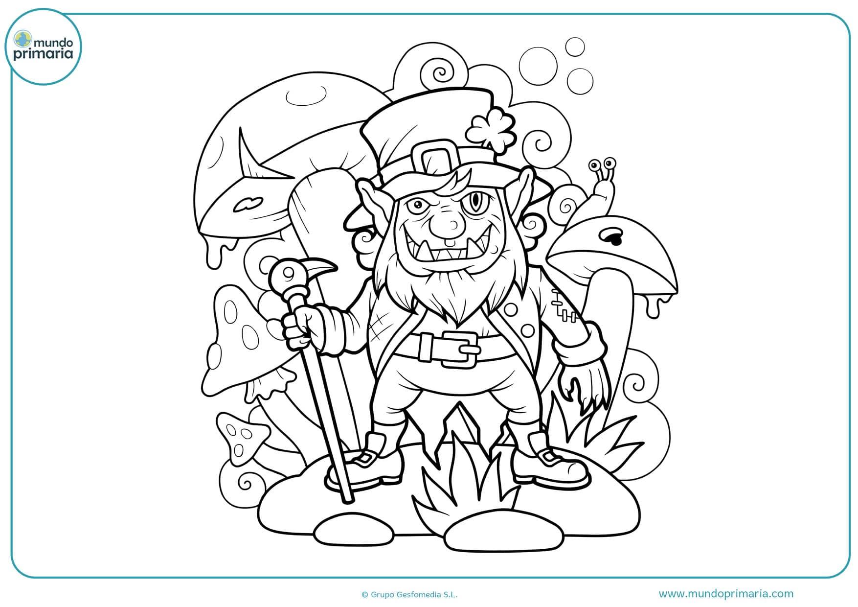 dibujos para colorear de hadas y duendes
