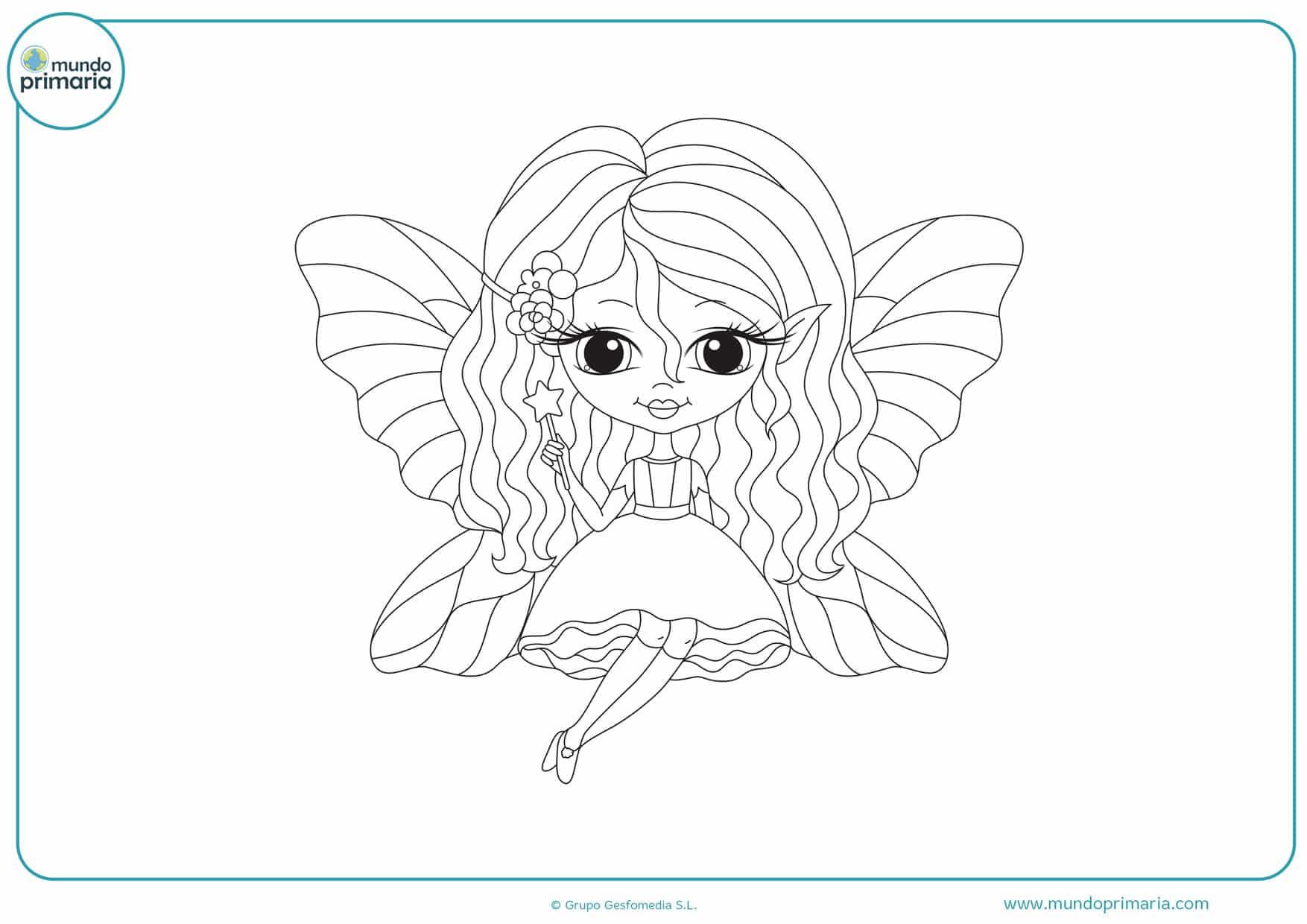 dibujos para colorear de hadas para imprimir