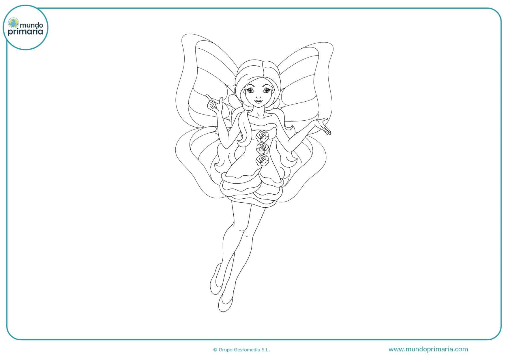 dibujos para colorear de hadas y princesas