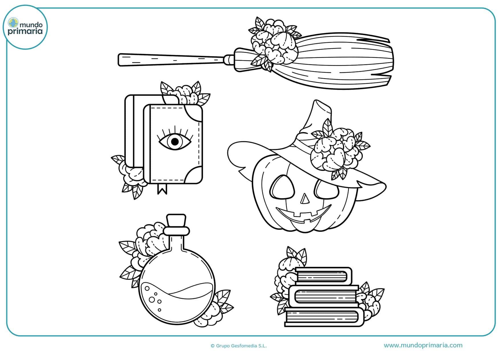 dibujos para colorear de halloween de brujas