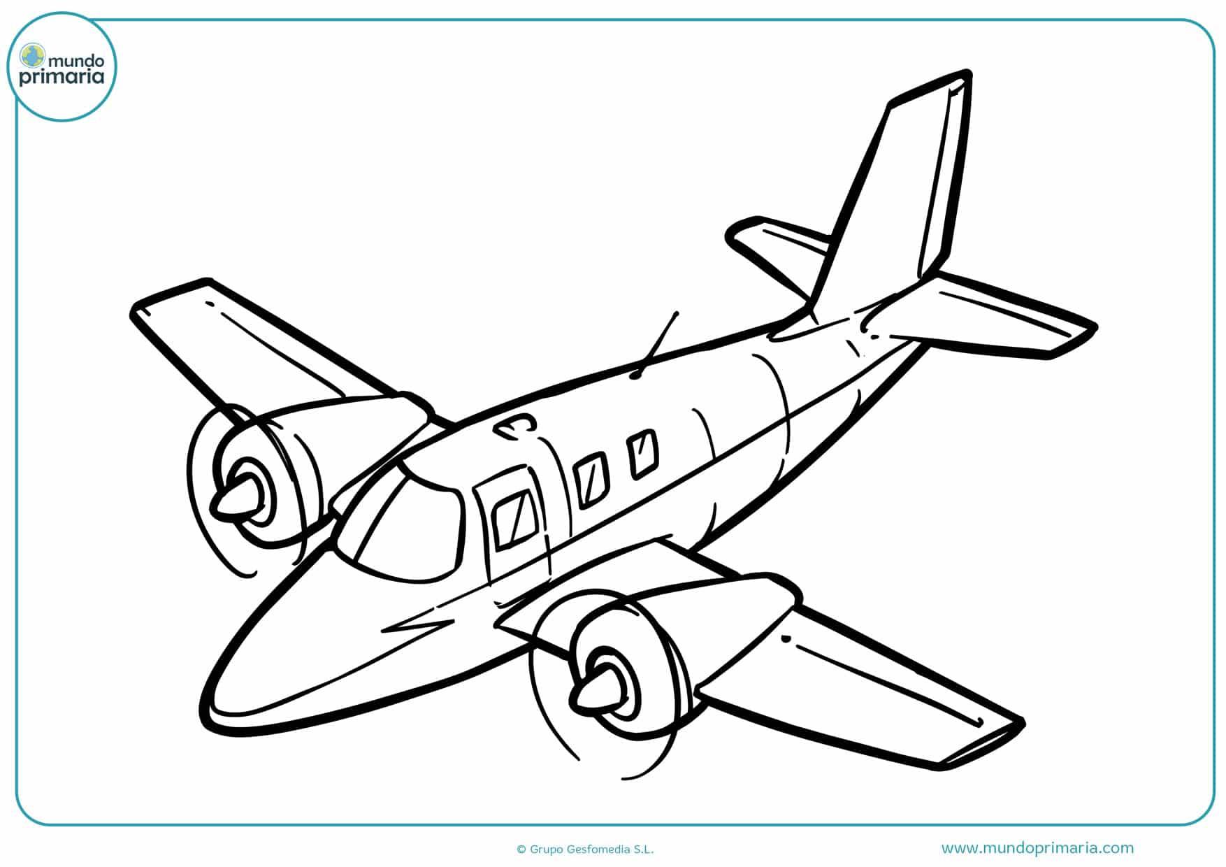 dibujos para colorear e imprimir de aviones