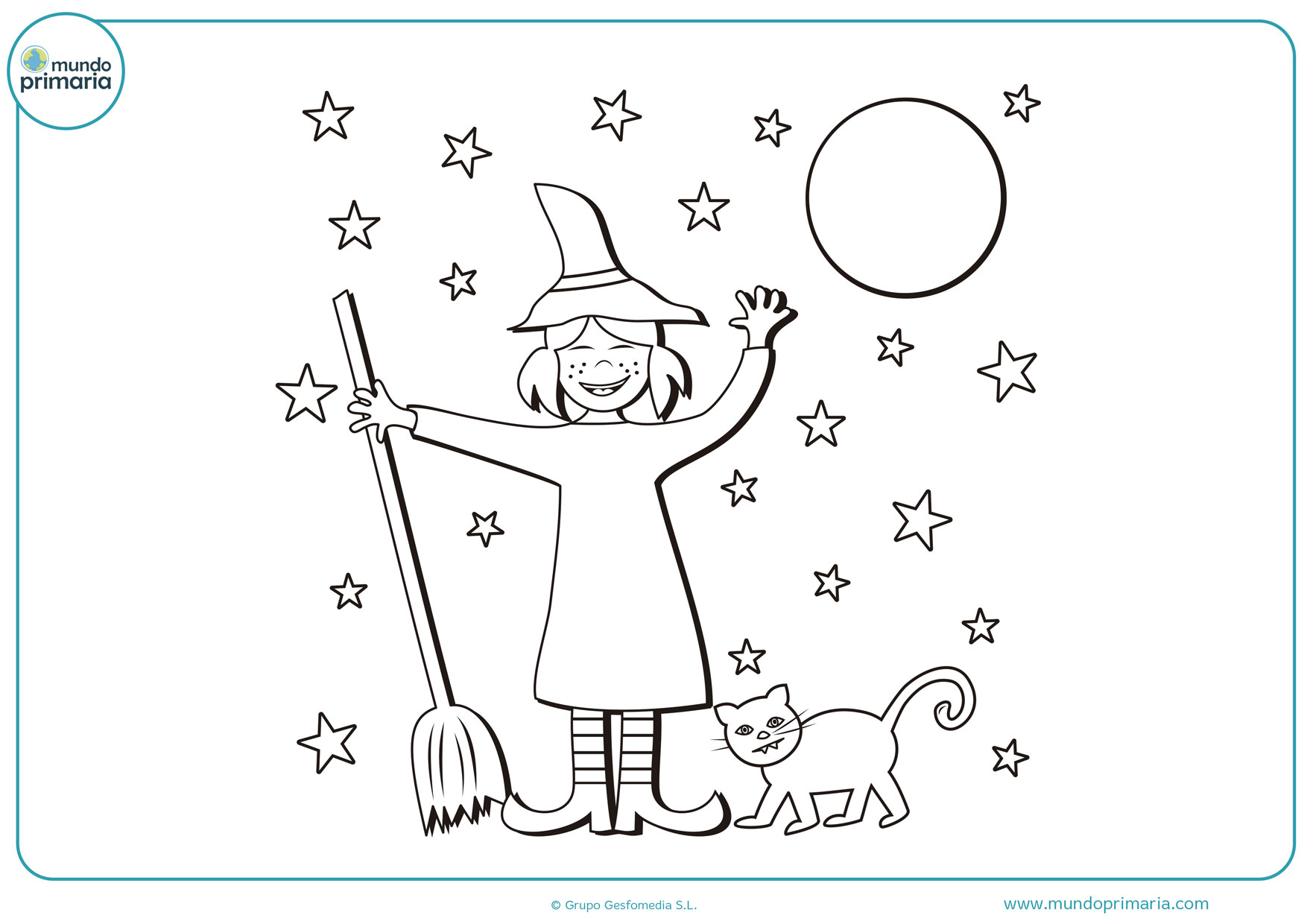dibujos para colorear e imprimir de brujas