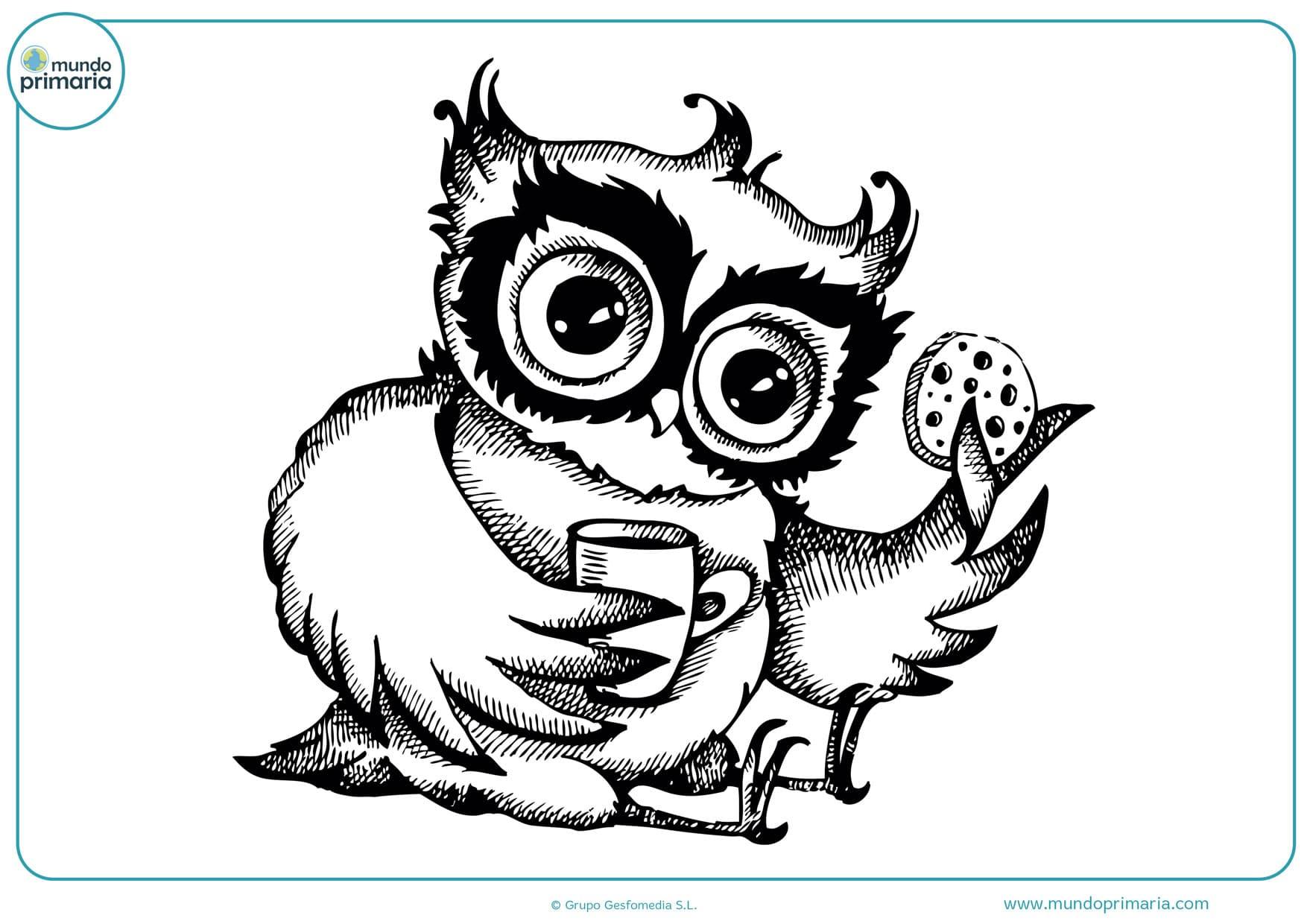 dibujos para colorear e imprimir de búhos