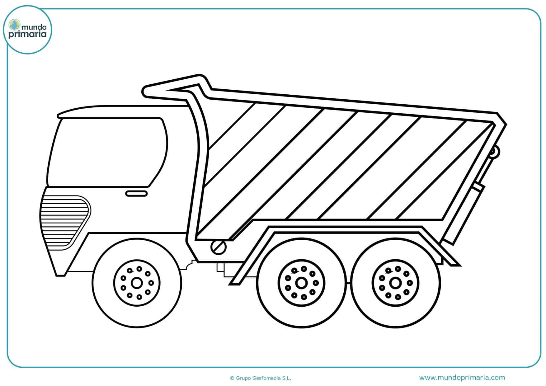 dibujos para colorear e imprimir de camiones