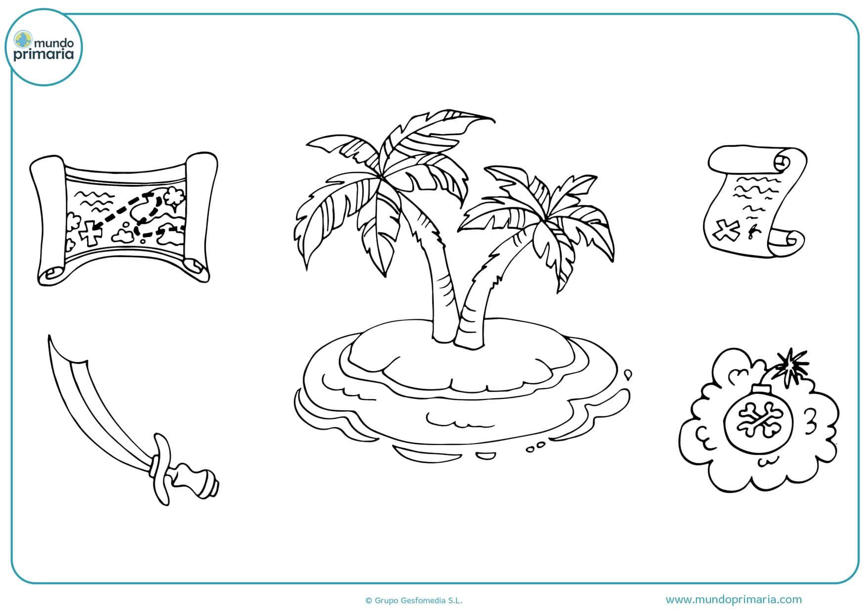 dibujos para colorear e imprimir de cartas piratas