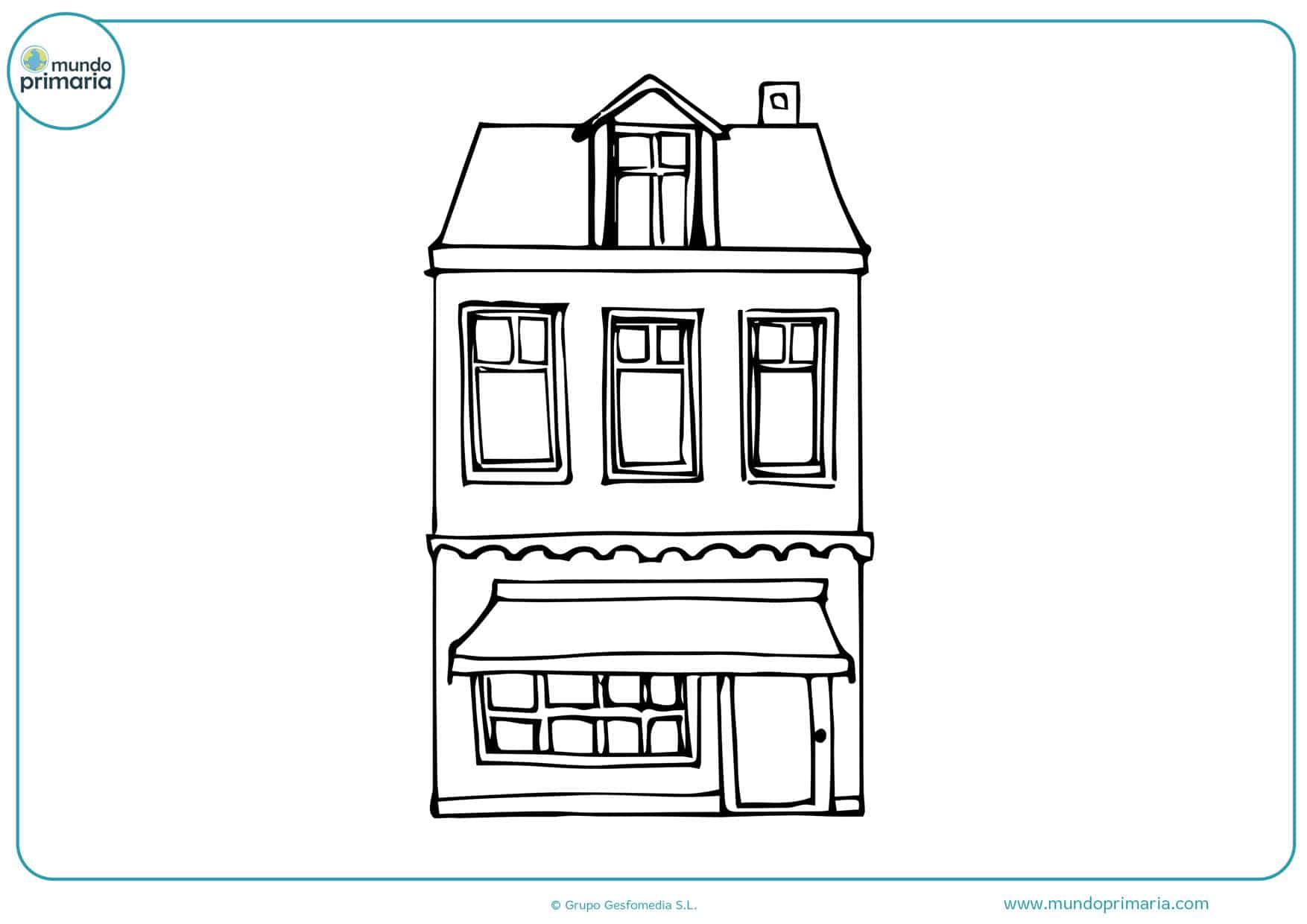dibujos para colorear e imprimir de casas