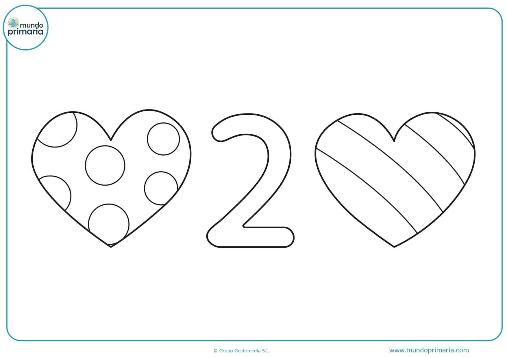 dibujos para colorear e imprimir de corazones