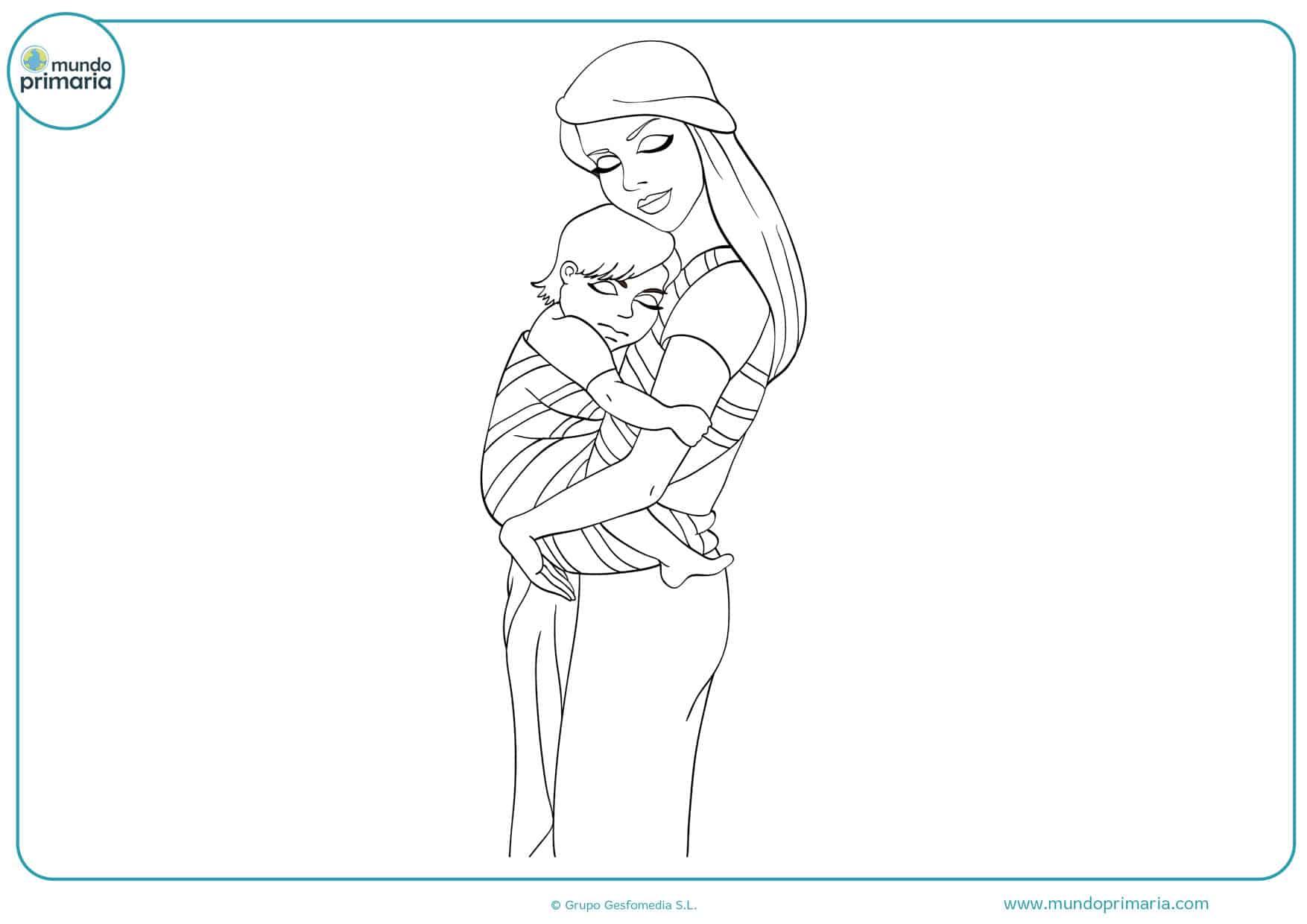 dibujos para colorear e imprimir del día de la madre
