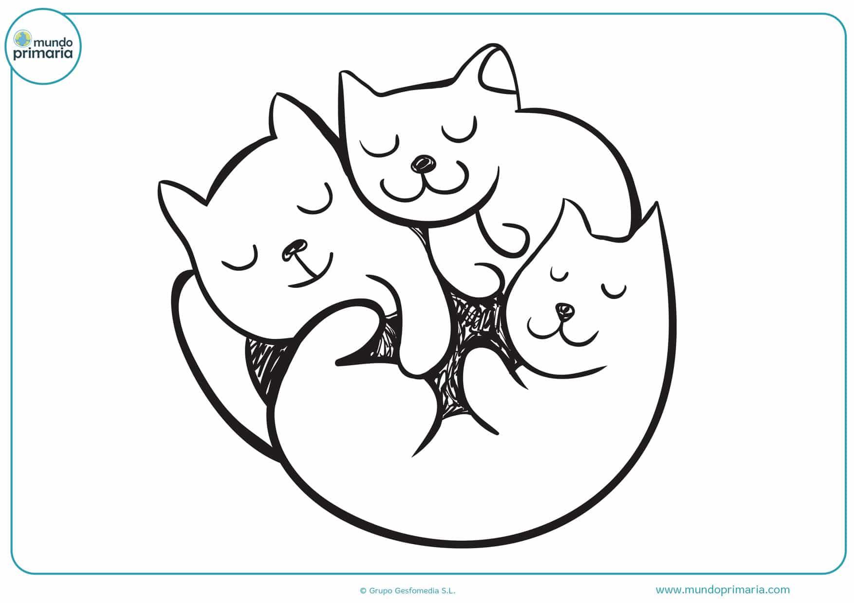dibujos para colorear e imprimir de gatos
