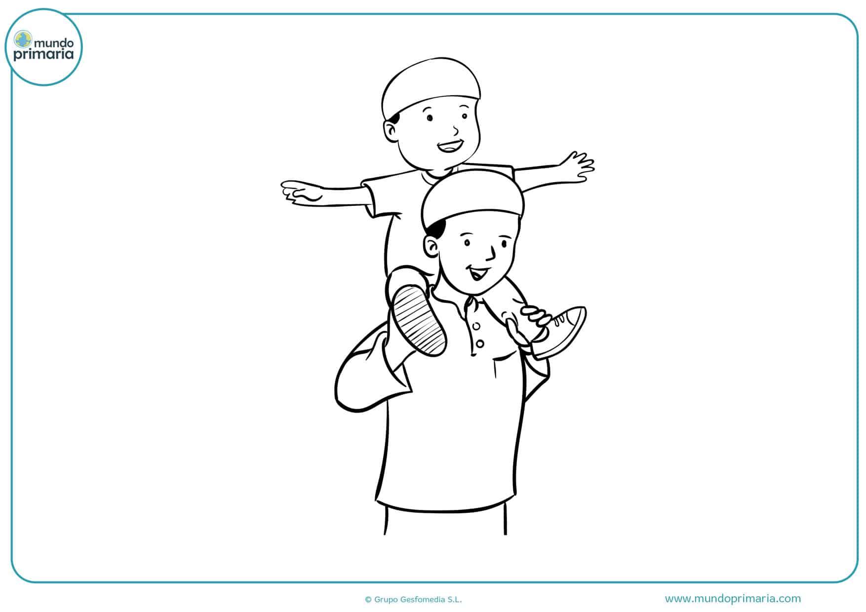 dibujos para colorear e imprimir para el día del padre