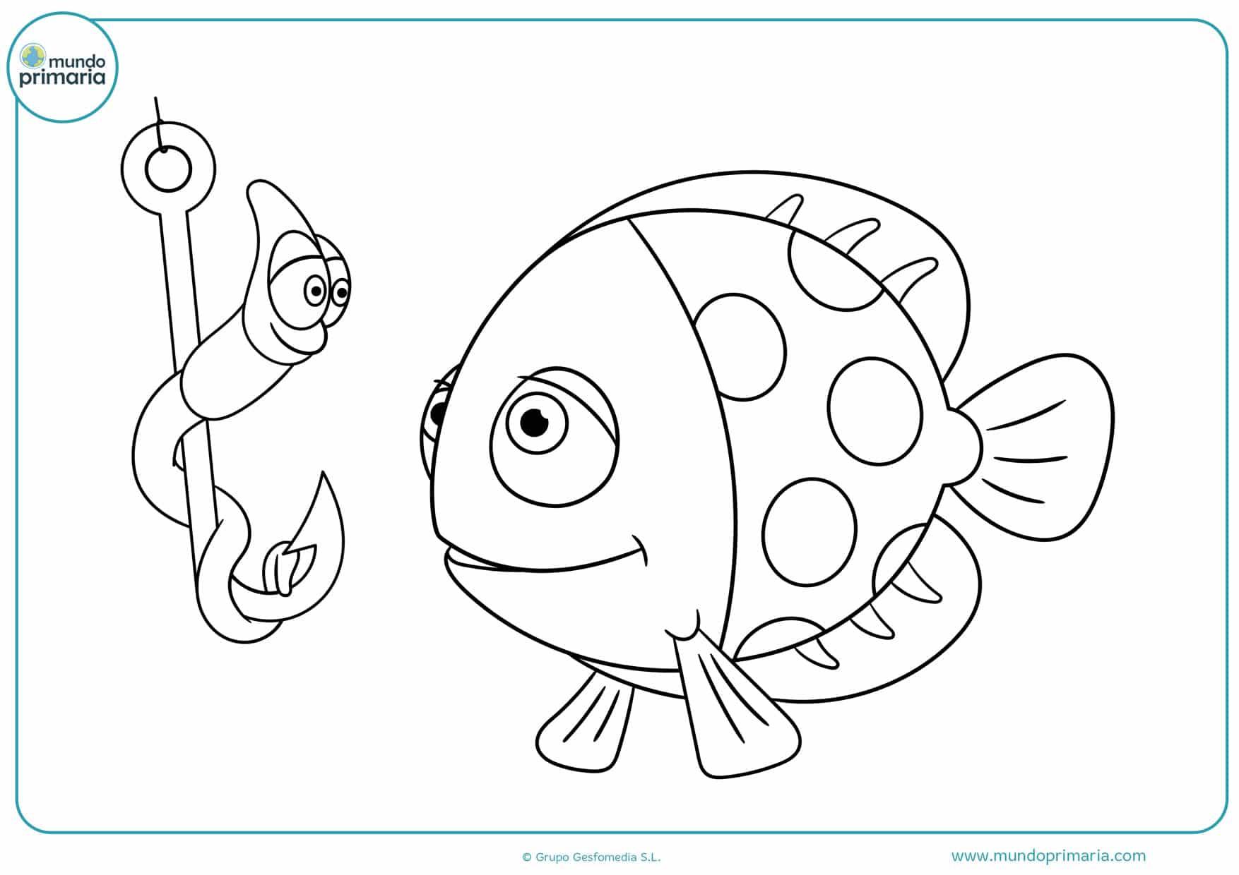 dibujos para colorear e imprimir de peces