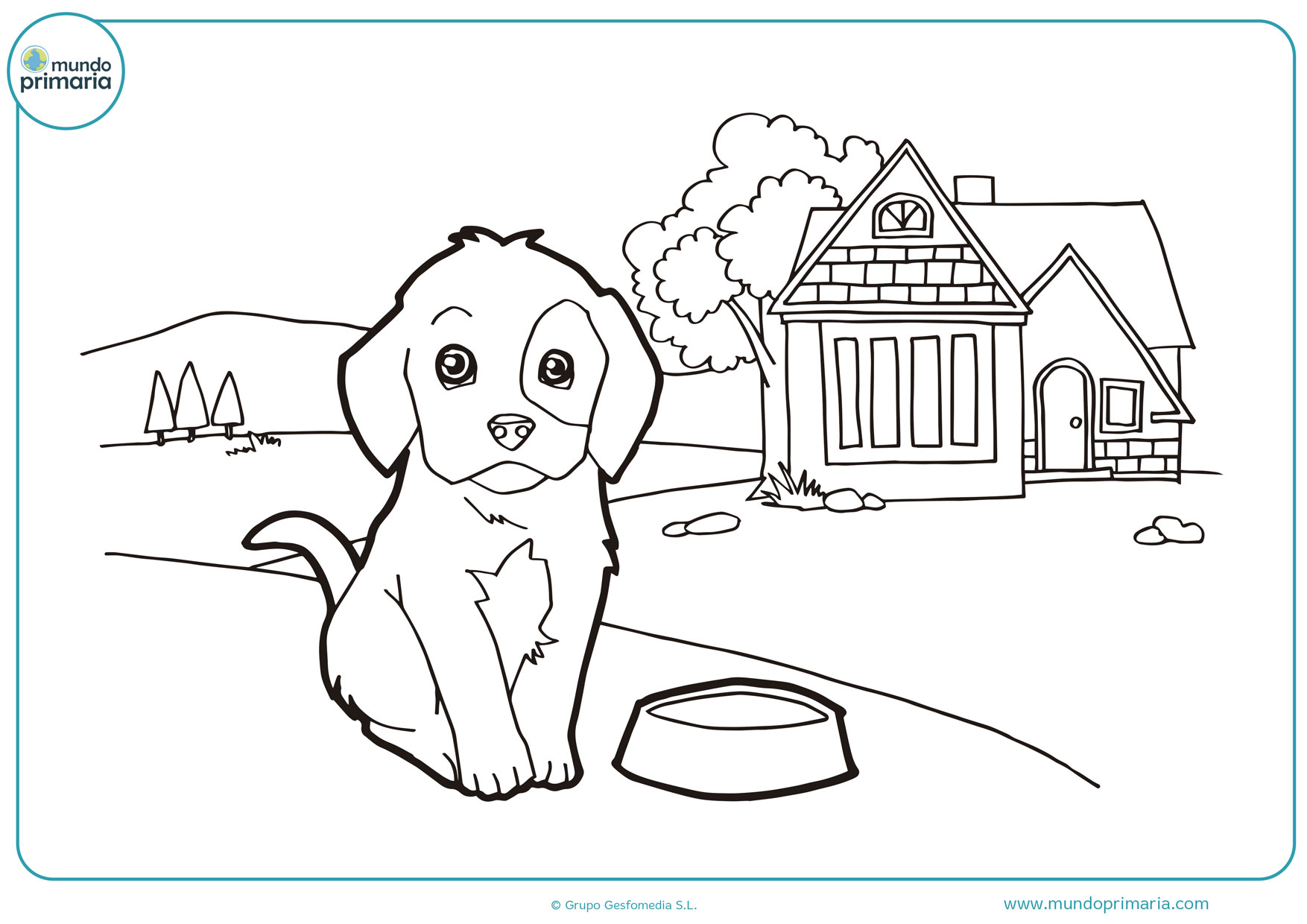 dibujos para colorear e imprimir de perros