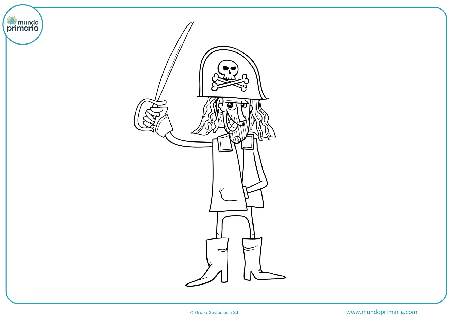 dibujos para colorear e imprimir de piratas gratis