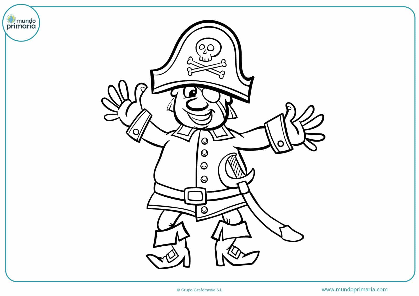dibujos para colorear e imprimir de piratas
