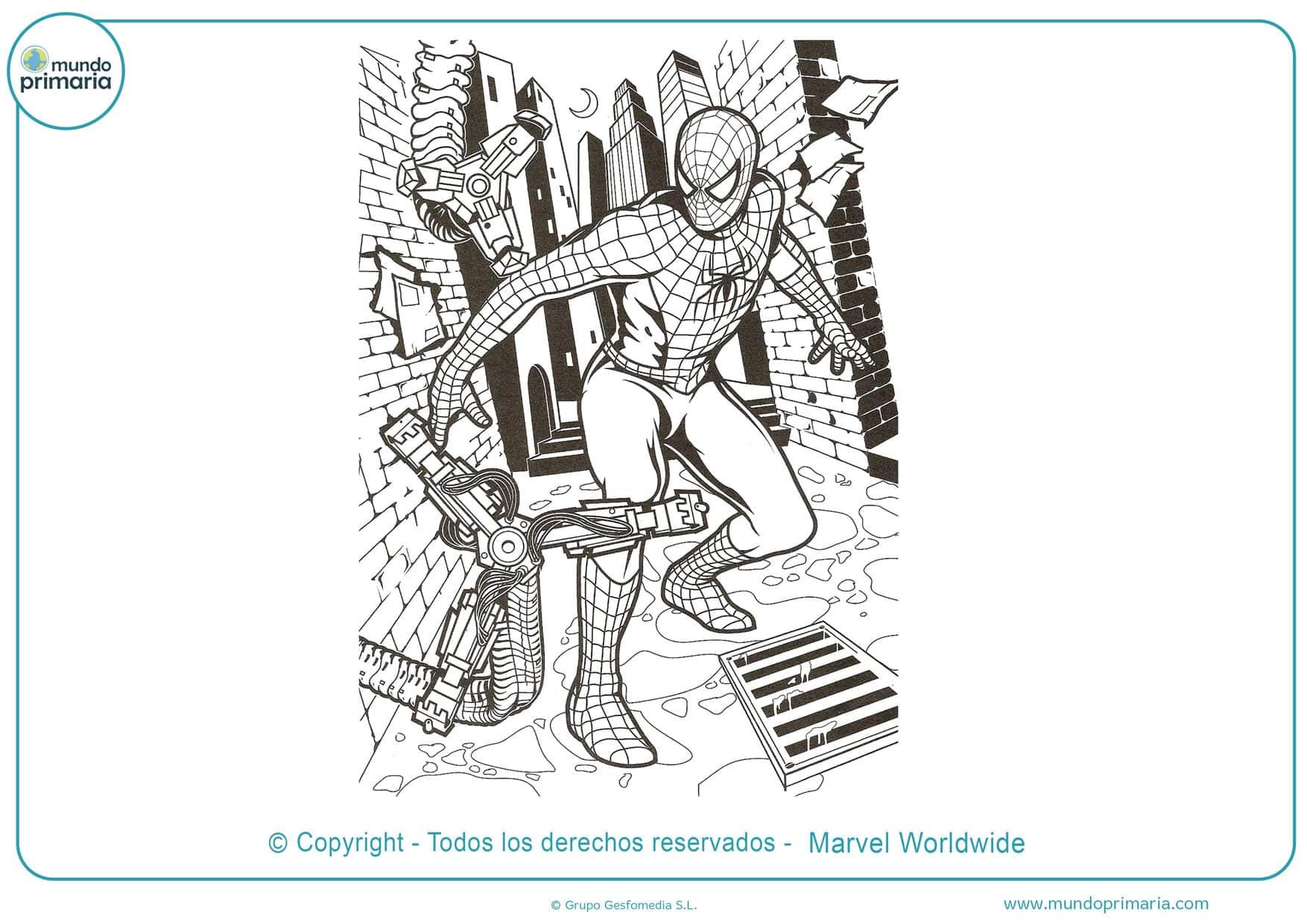 dibujos para colorear e imprimir de spiderman