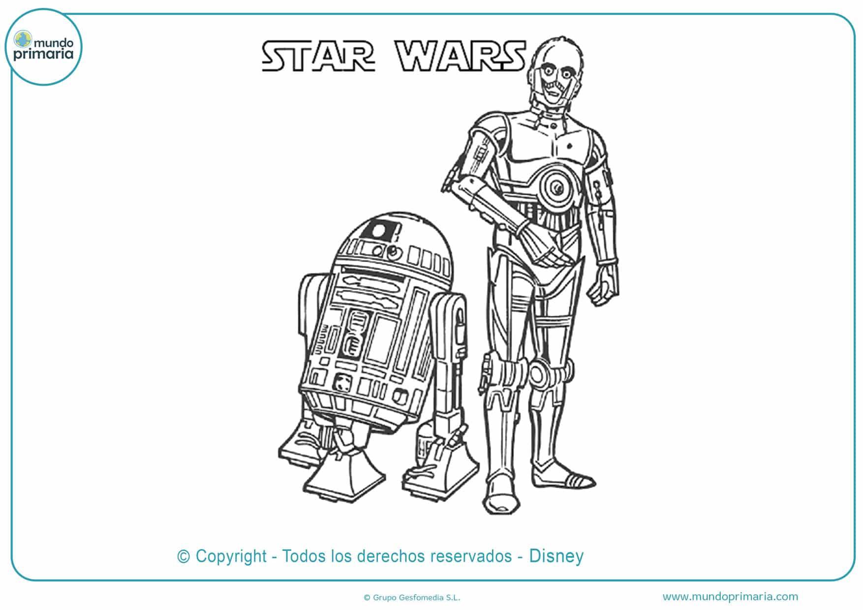 dibujos para colorear e imprimir de star wars