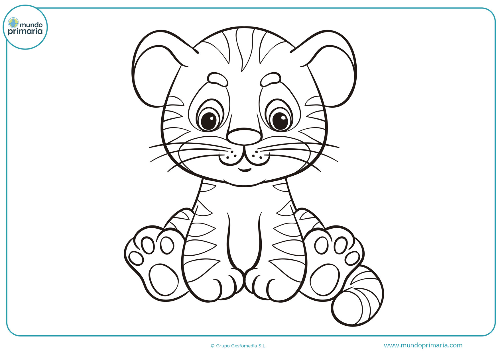 Dibujos De Tigres Para Colorear Fáciles De Imprimir