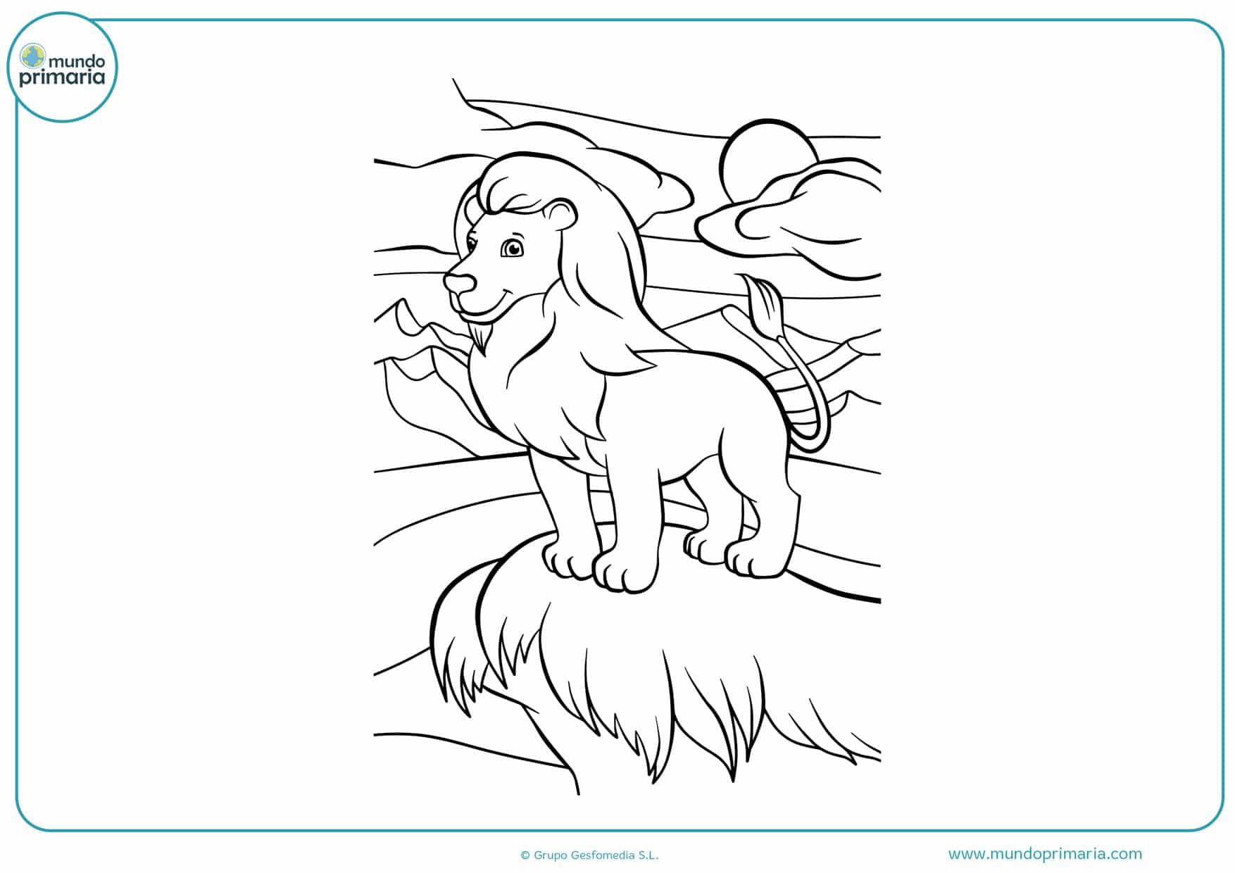 dibujos para colorear de leones realistas