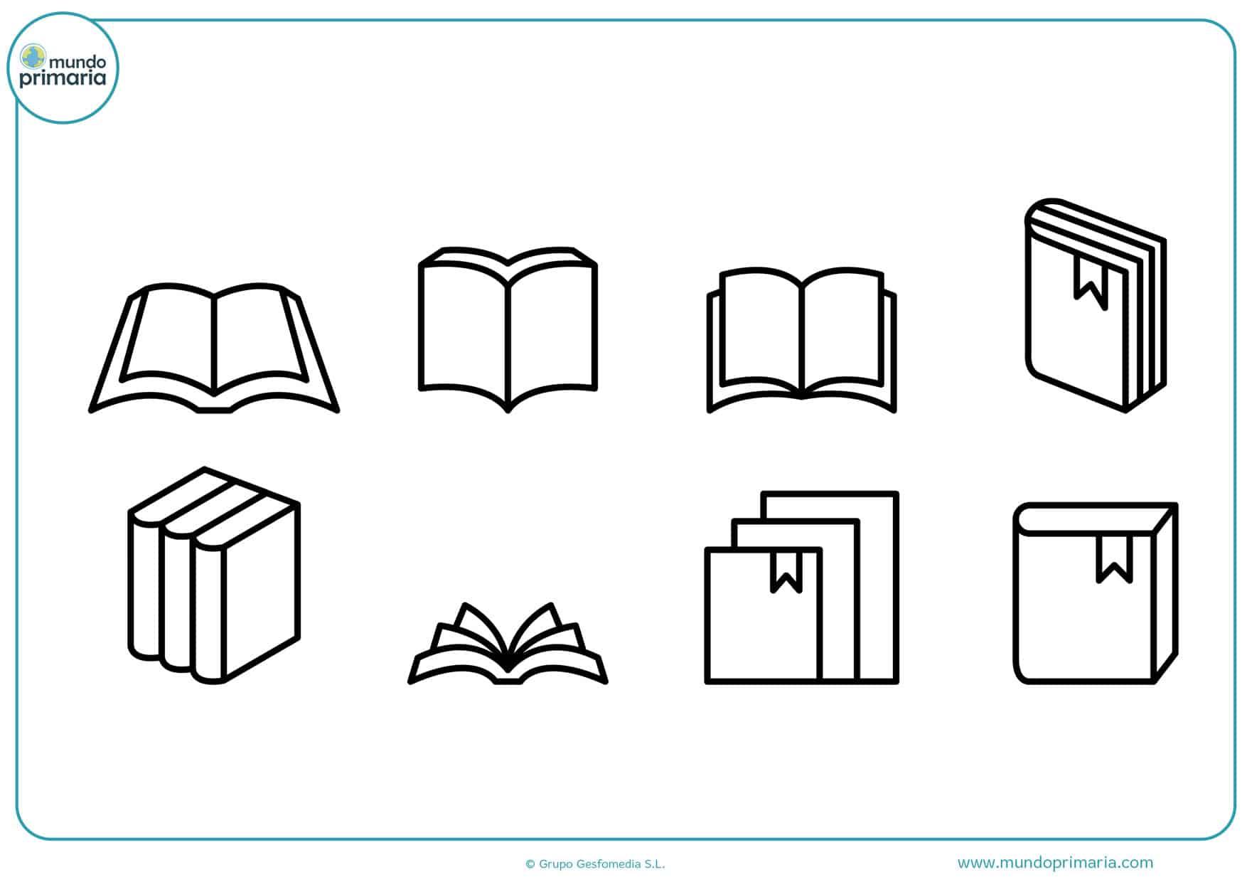 dibujos para colorear de libros abiertos