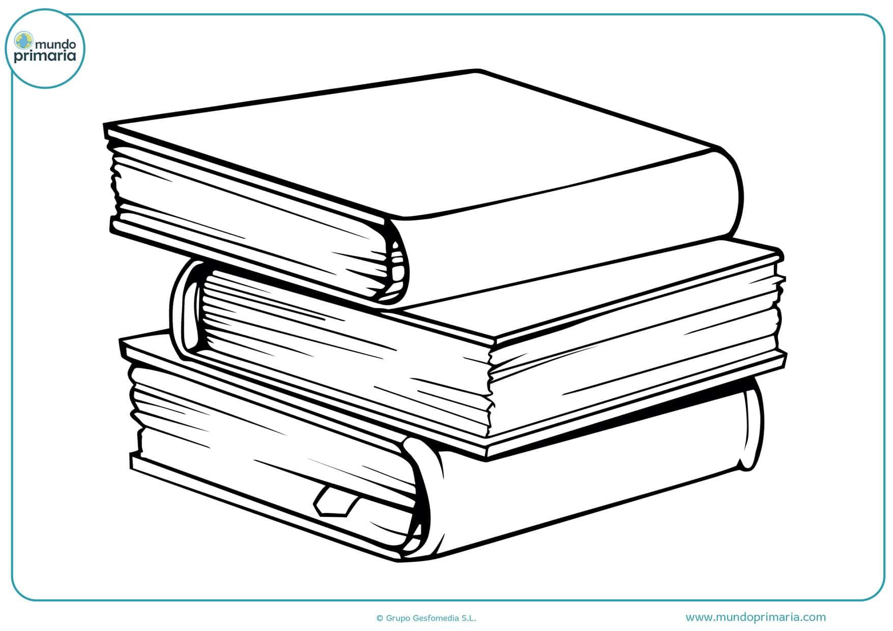 dibujos para colorear de libros cerrados