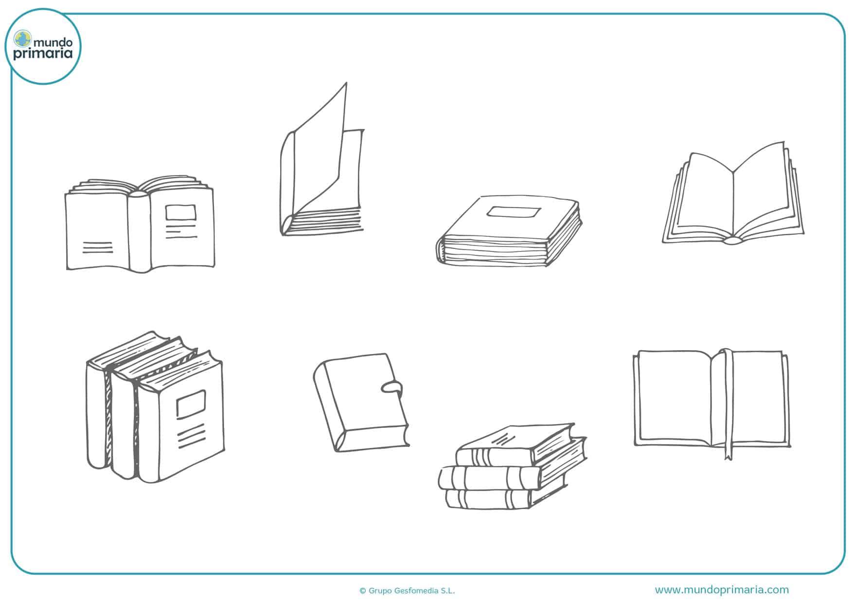dibujos para colorear de libros