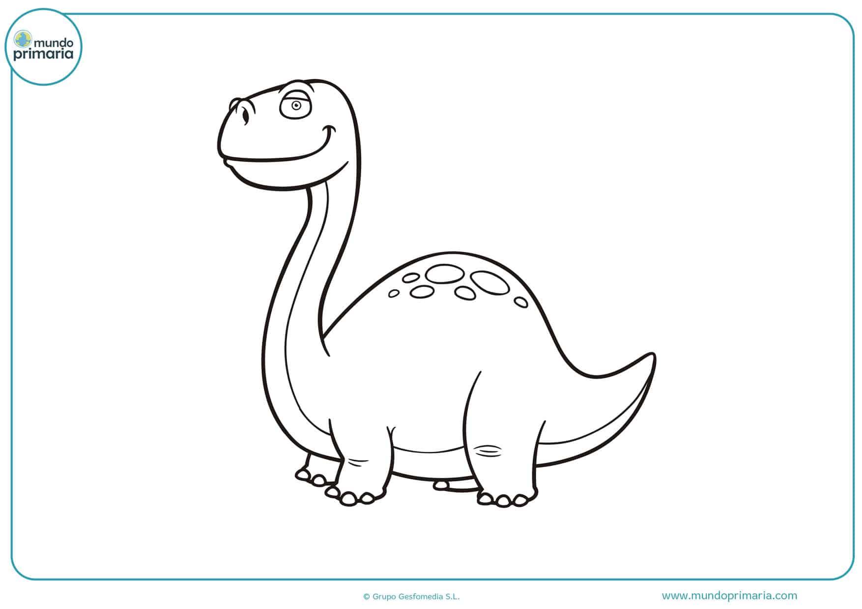 dibujos para colorear en linea de dinosaurios