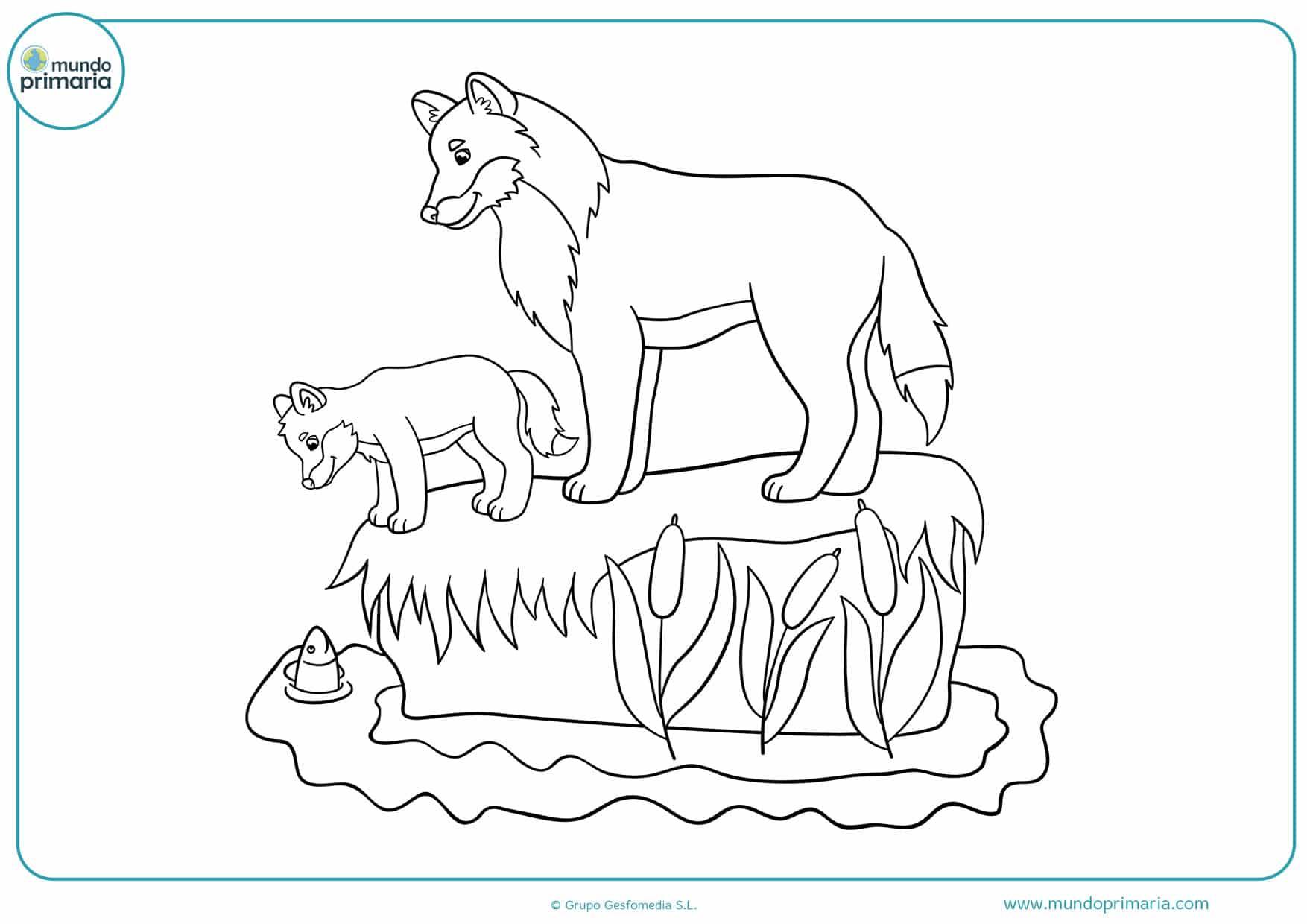 Dibujos De Lobos Para Colorear Fáciles De Imprimir